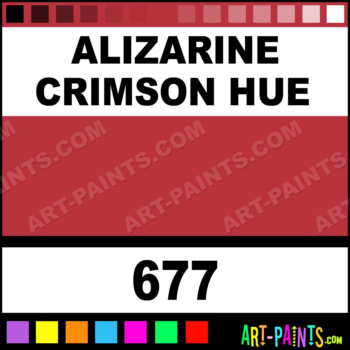 Alizarin Crimson Paint Color