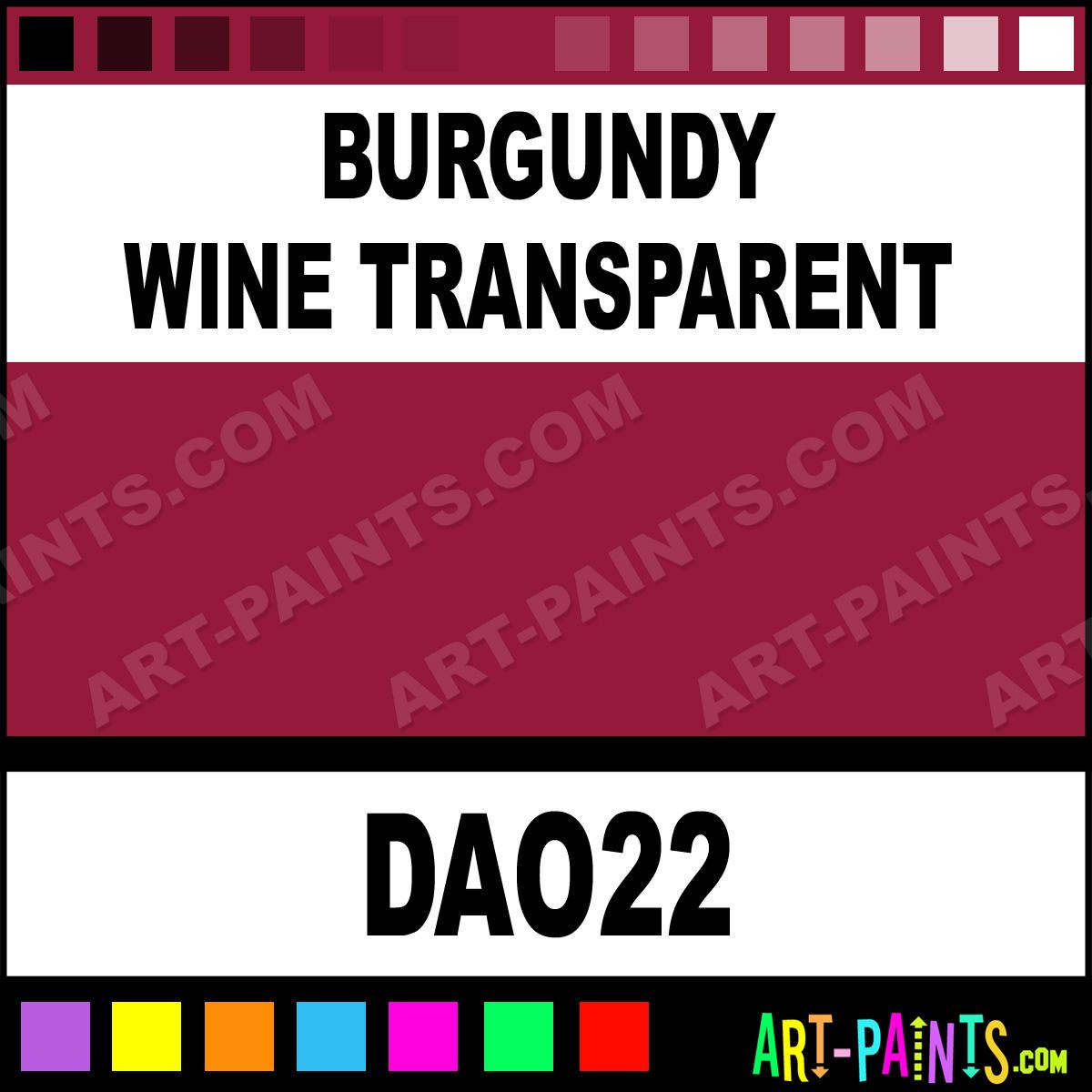 Burgundy wine transparent decoart acrylic paints dao22 for Burgundy paint color samples