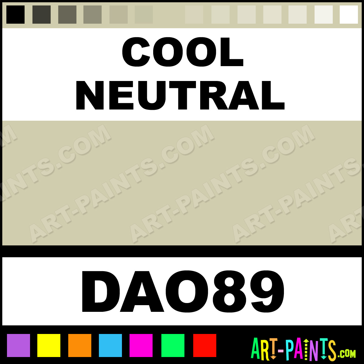 Cool neutral decoart acrylic paints dao89 cool neutral for Cool neutral paint colors