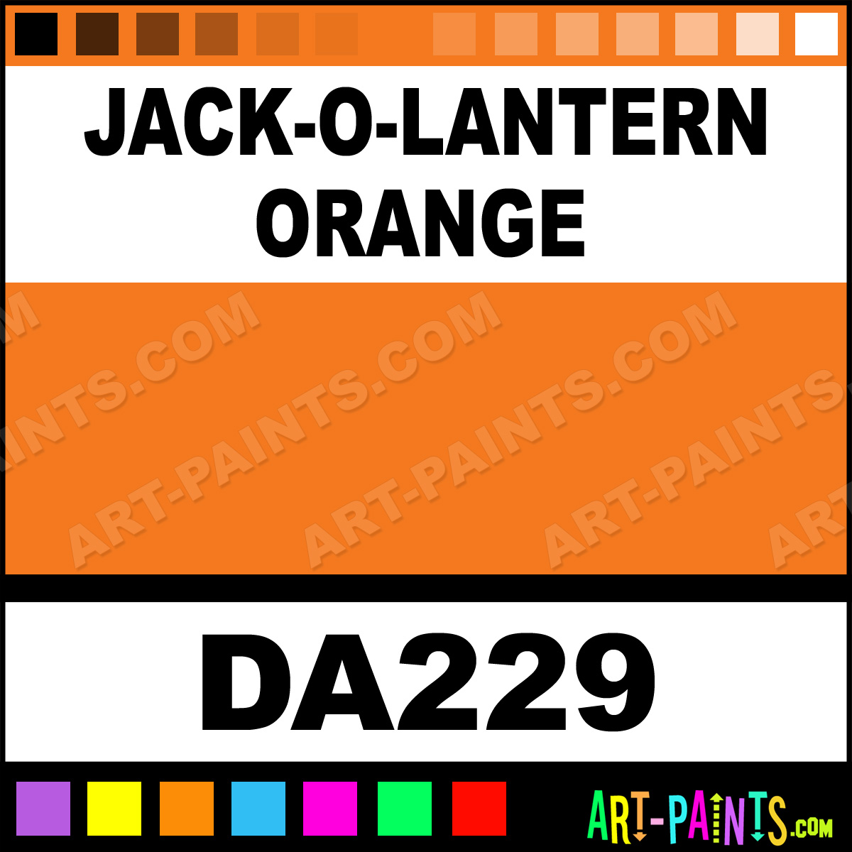Jack-O-Lantern Orange DecoArt Acrylic Paints - DA229 - Jack-O ...