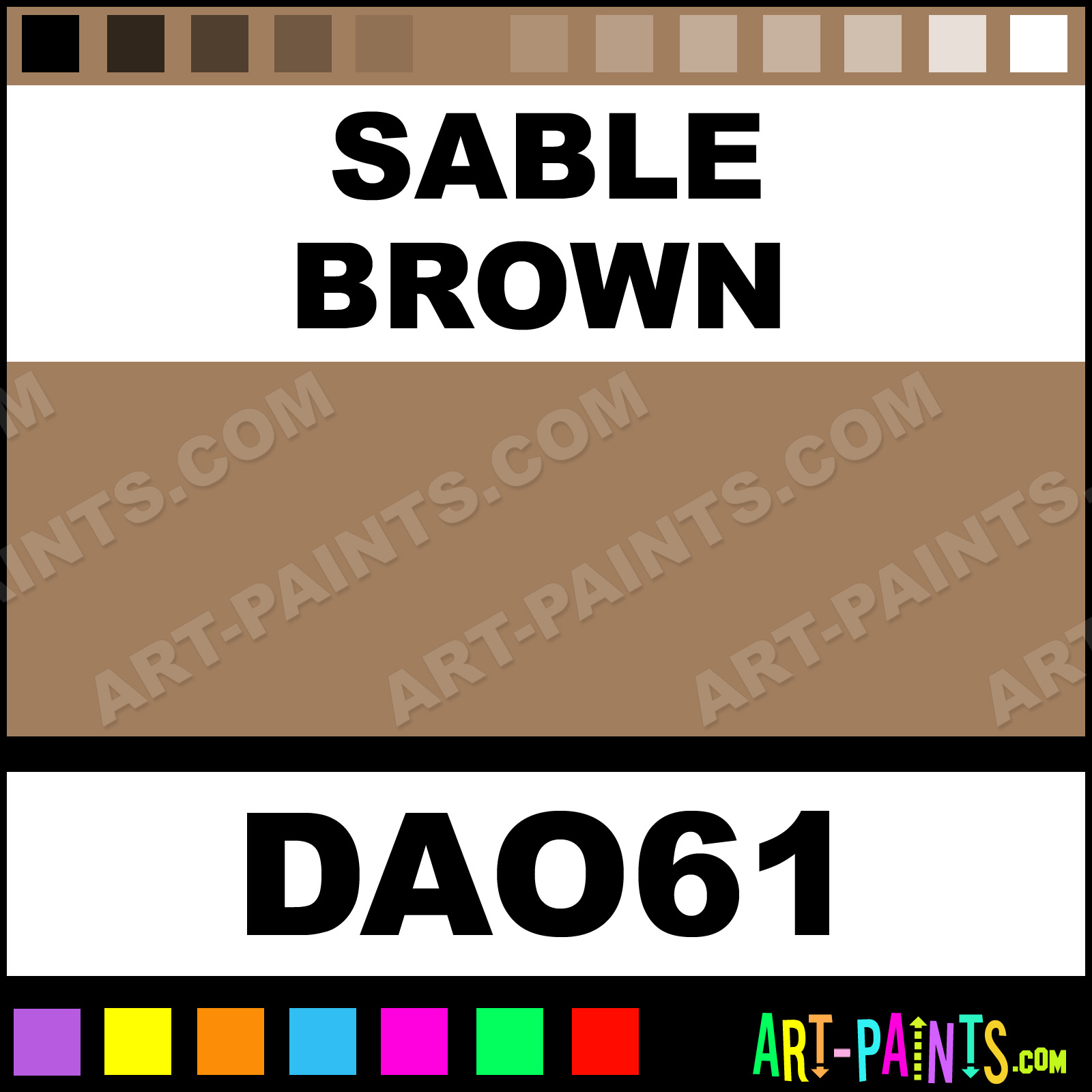Sable Brown Decoart Acrylic Paints Dao61 Paint Color Americana A17d5d Art