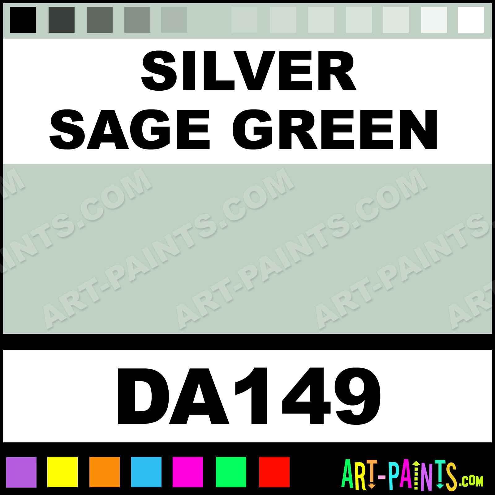 silver sage green decoart acrylic paints da149 silver