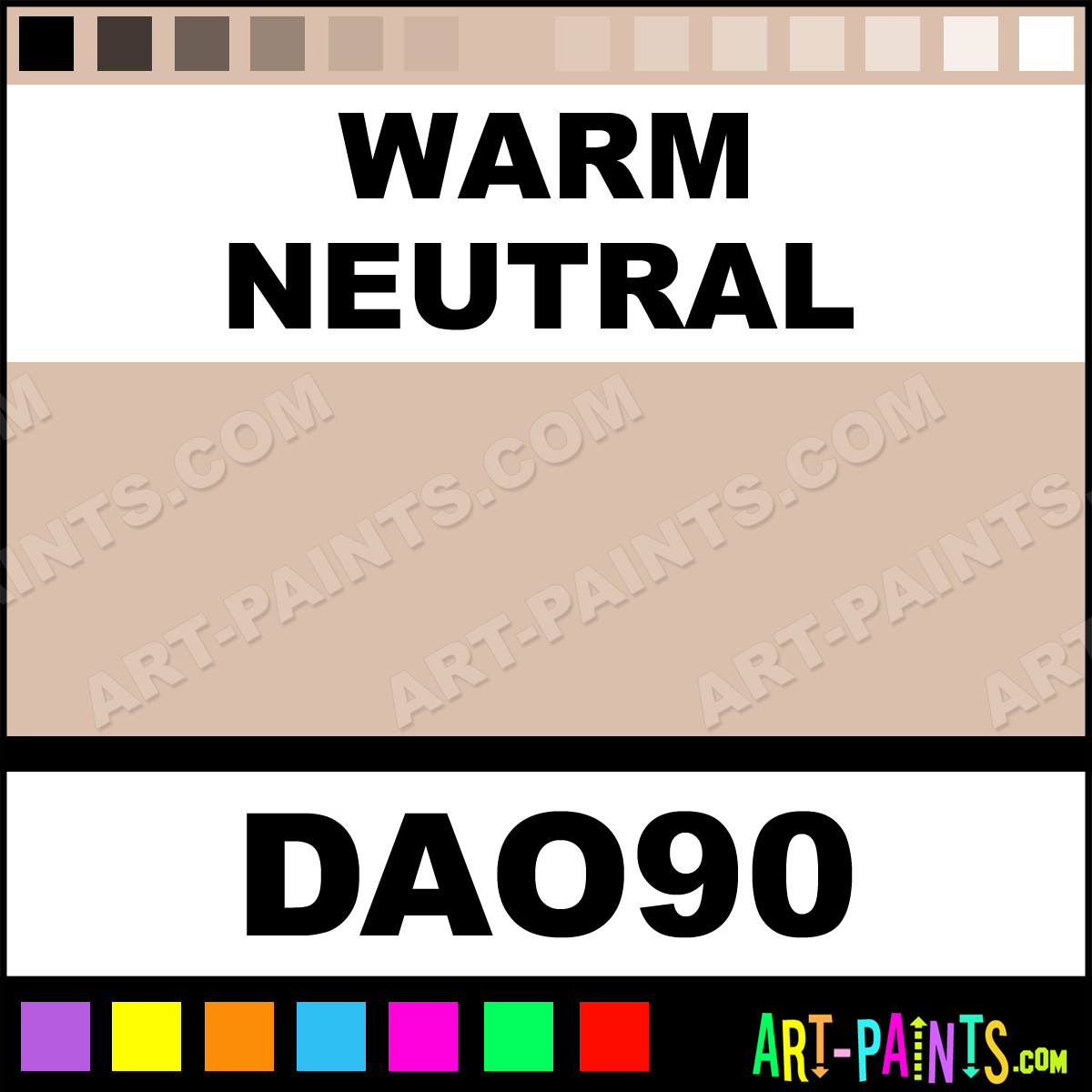 Warm neutral decoart acrylic paints dao90 warm neutral for Warm neutral paint colors