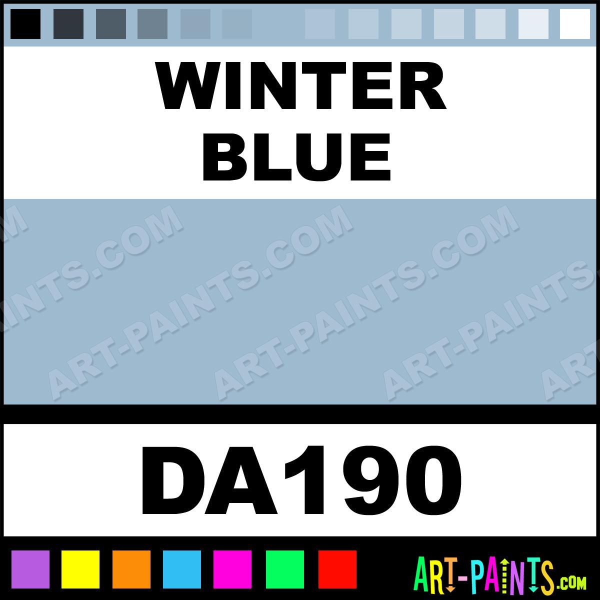 Winter Paint Colors: Winter Blue DecoArt Acrylic Paints