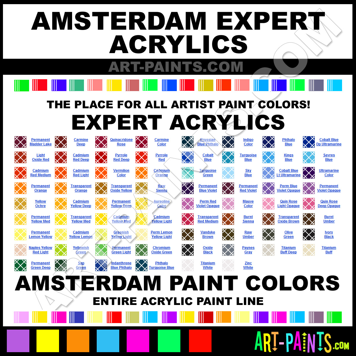 Amsterdam Expert Acrylic Paint Colors Amsterdam Expert