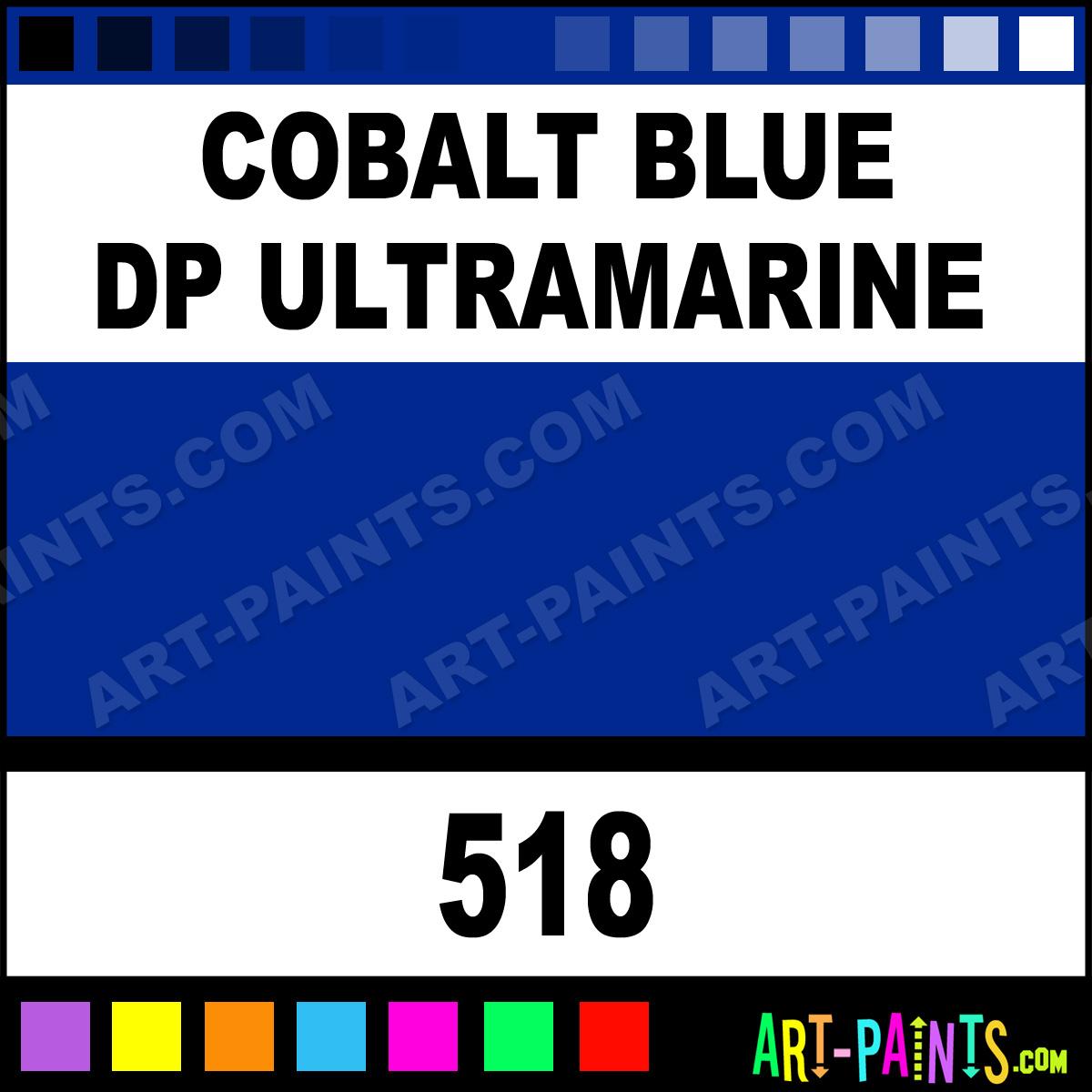Cobalt Blue Paint Color: Cobalt Blue Deep Ultramarine Expert Acrylic Paints