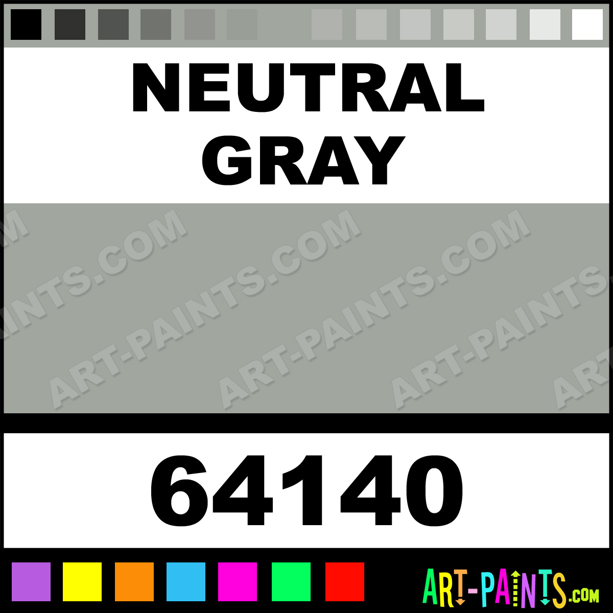 Neutral gray standard series acrylic paints 64140 for Neutral grey paint colors