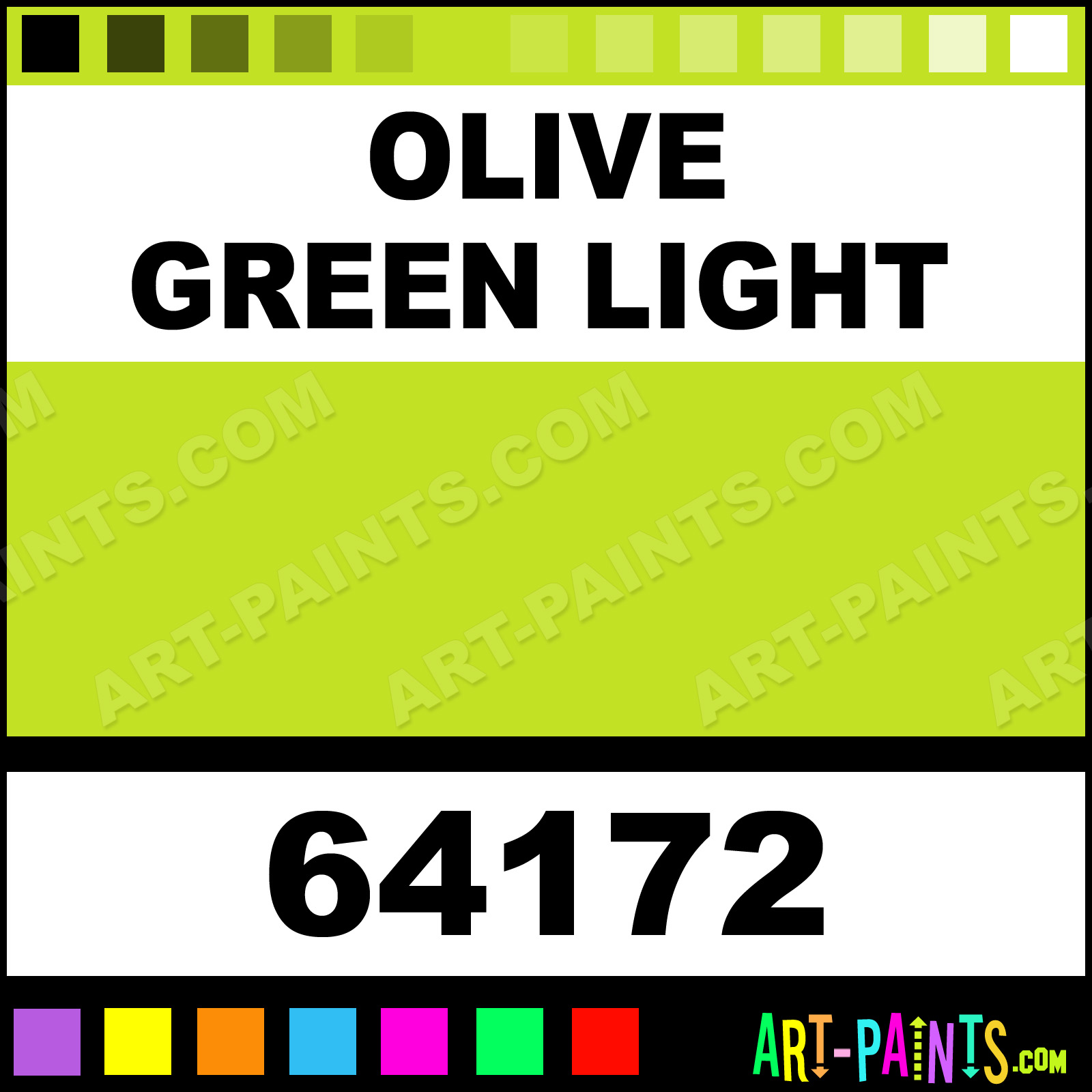 Olive Color Code Amsterdam Standard Series Paints