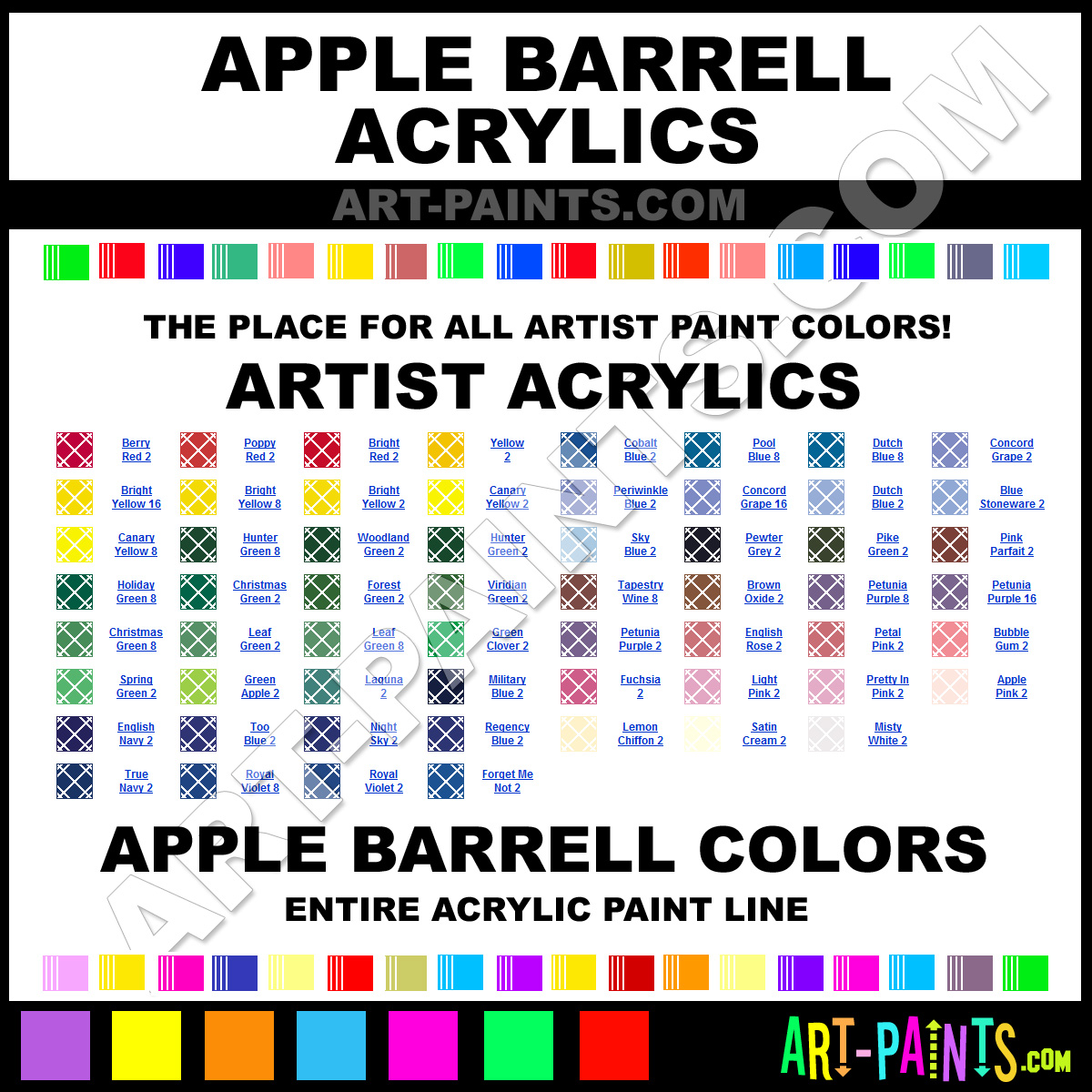 Artist Paint Colors Barrell Artist Paints
