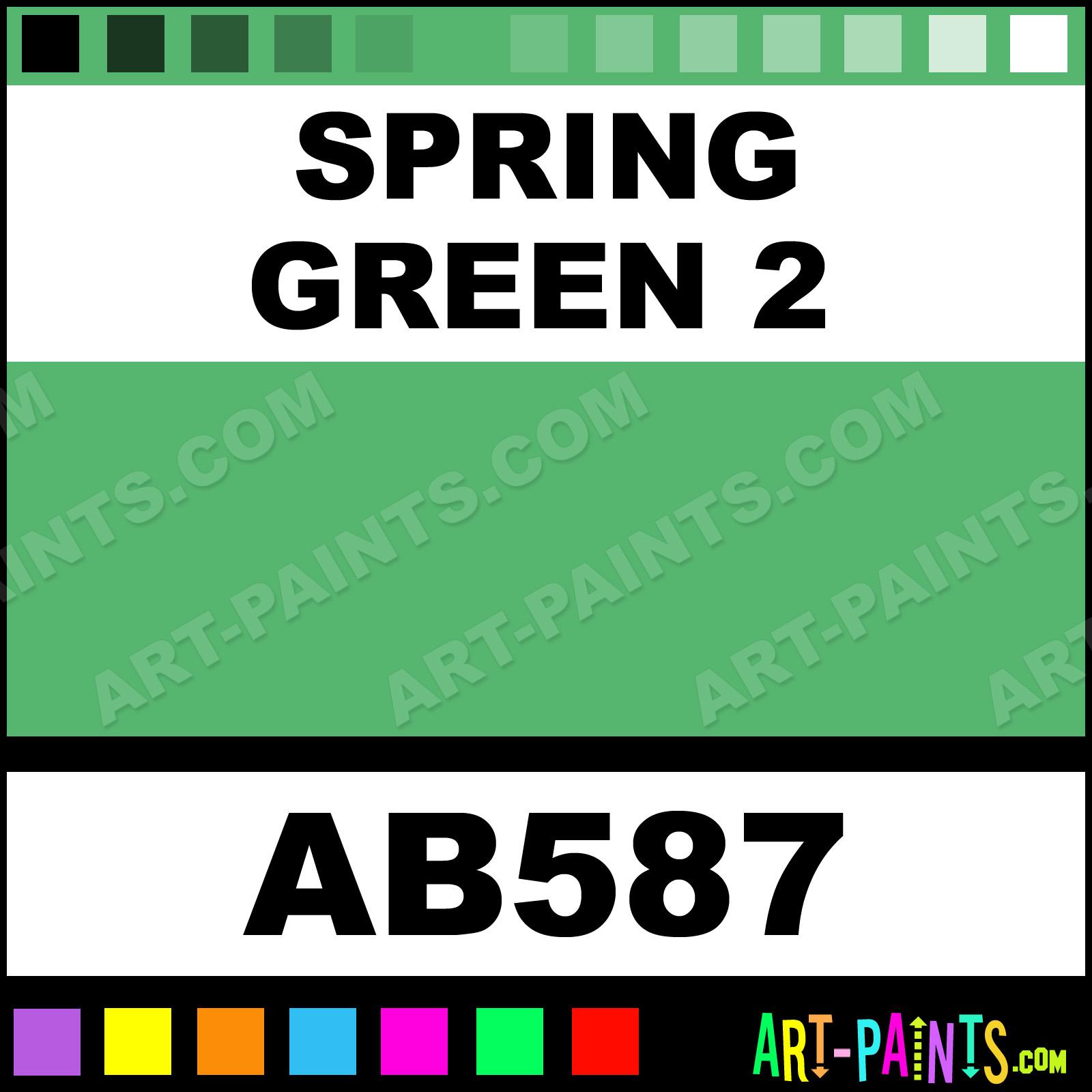 Spring Green 2 Artist Acrylic Paints Ab587 Paint Color Le Barrell 55b56e Art