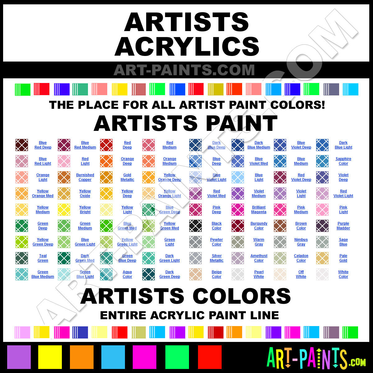 Artists Acrylic Paint Brands