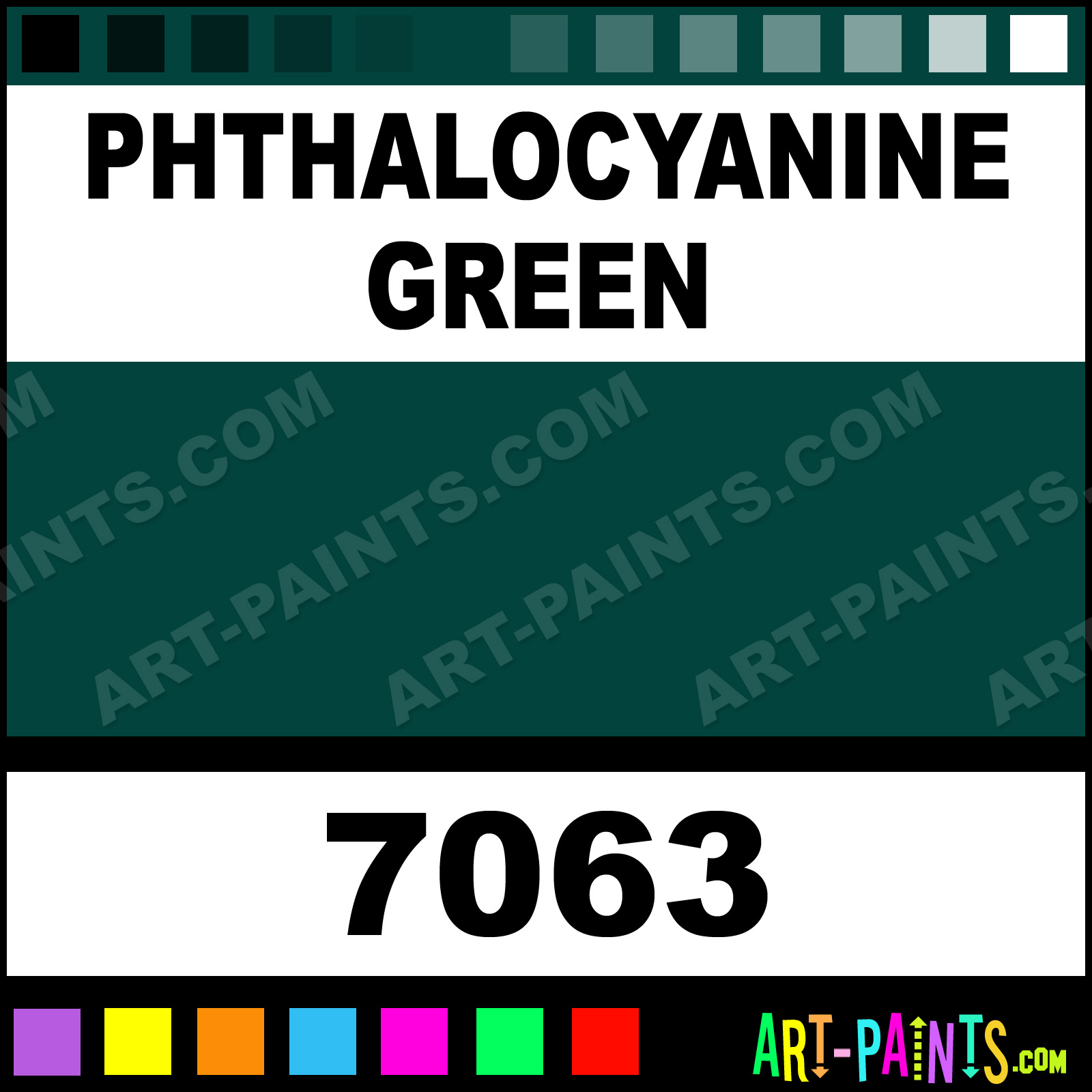 Phthalocyanine Green Paint