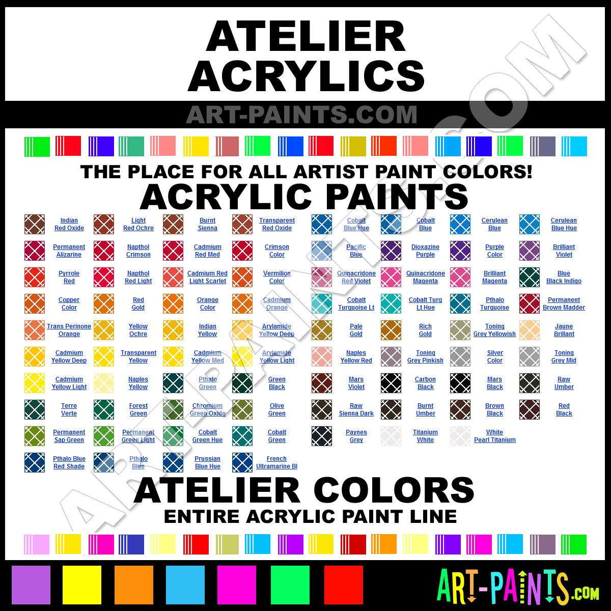 Paint Colors And Brands: Atelier Acrylic Paint Brands