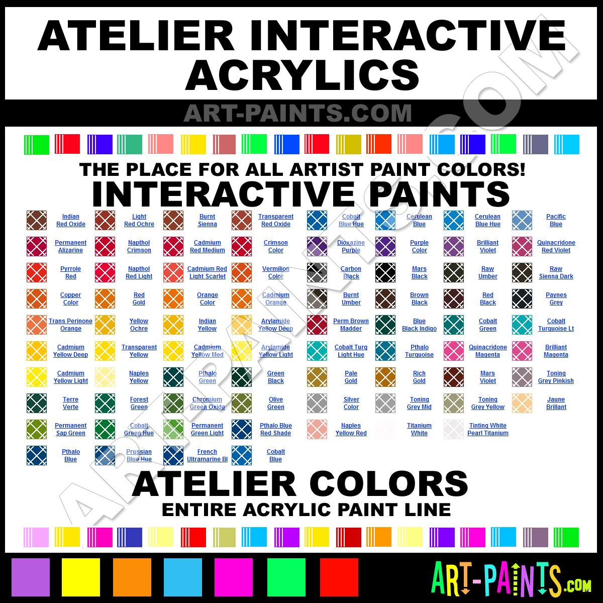 Atelier interactive acrylic paint colors atelier for Chroma mural paint markers