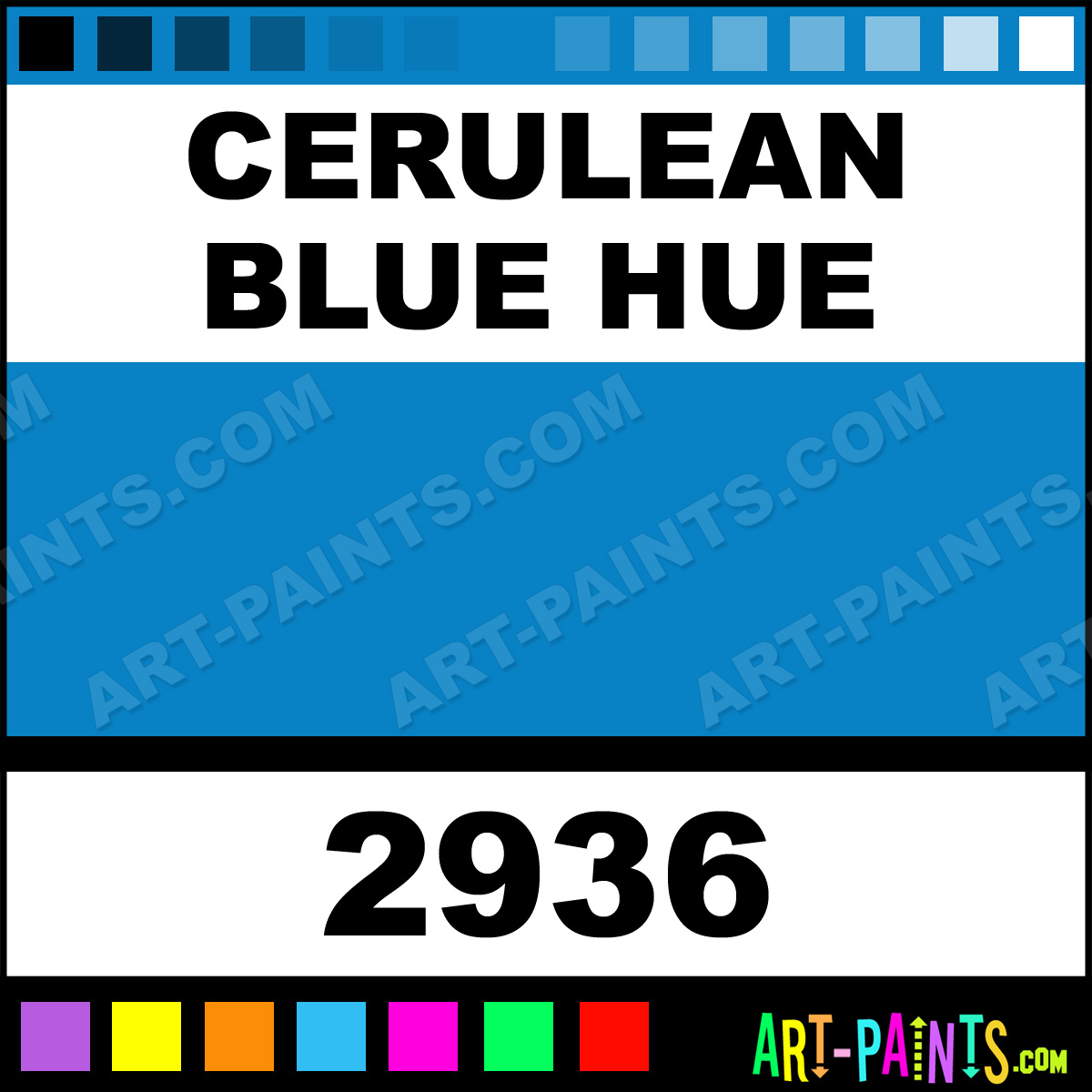 Cerulean Blue Hue Interactive Acrylic Paints 2936 Cerulean Blue Hue Paint Cerulean Blue Hue