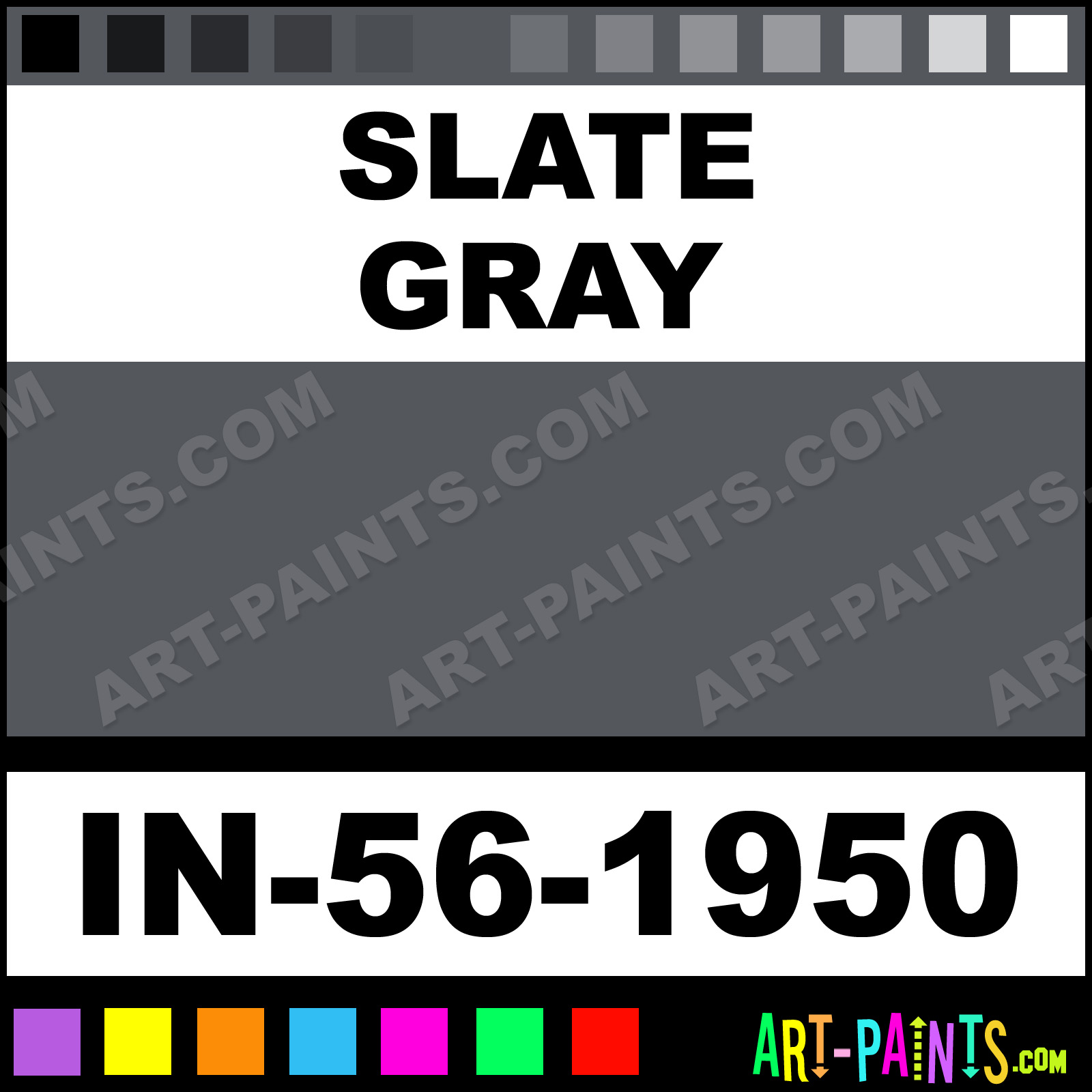 Slate Gray Artist Acrylic Paints In 56 1950 Paint Color Awesome 53565c Art