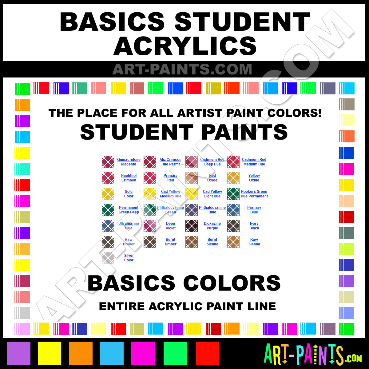 basics student acrylic paint colors basics student paint