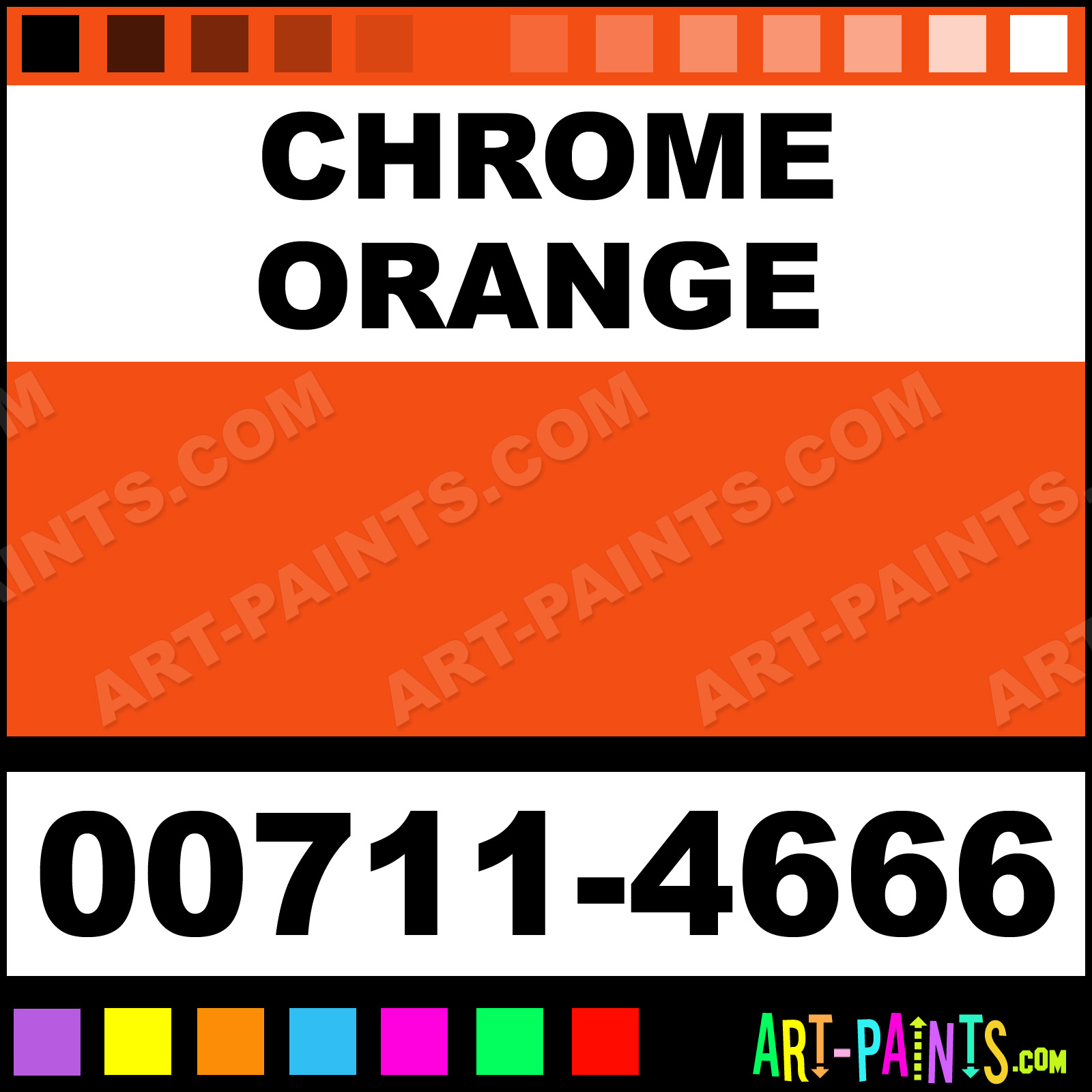Blickrylic Paints Chrome Orange Student Acrylic