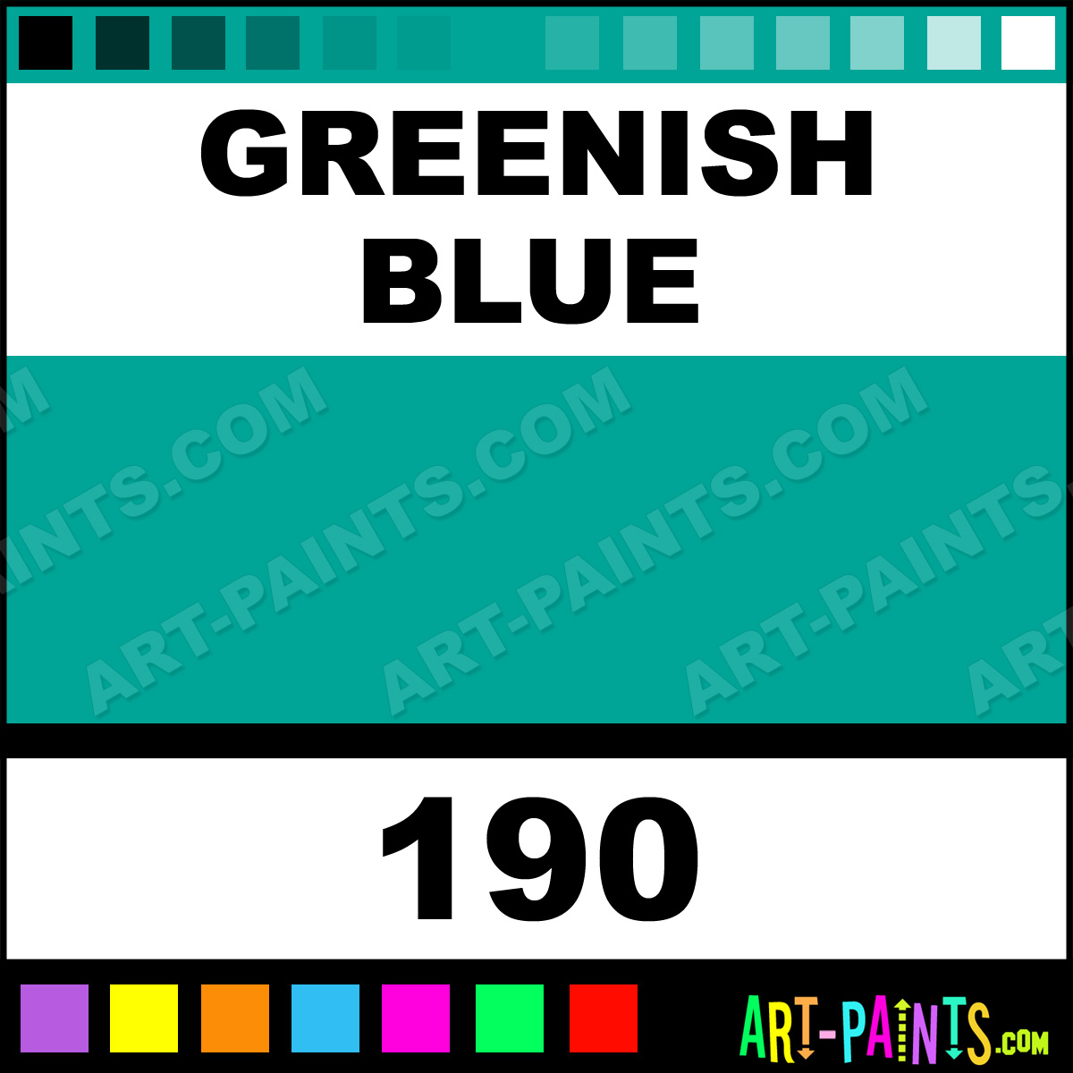 Greenish Blue Colours Acrylic Paints 190 Greenish Blue