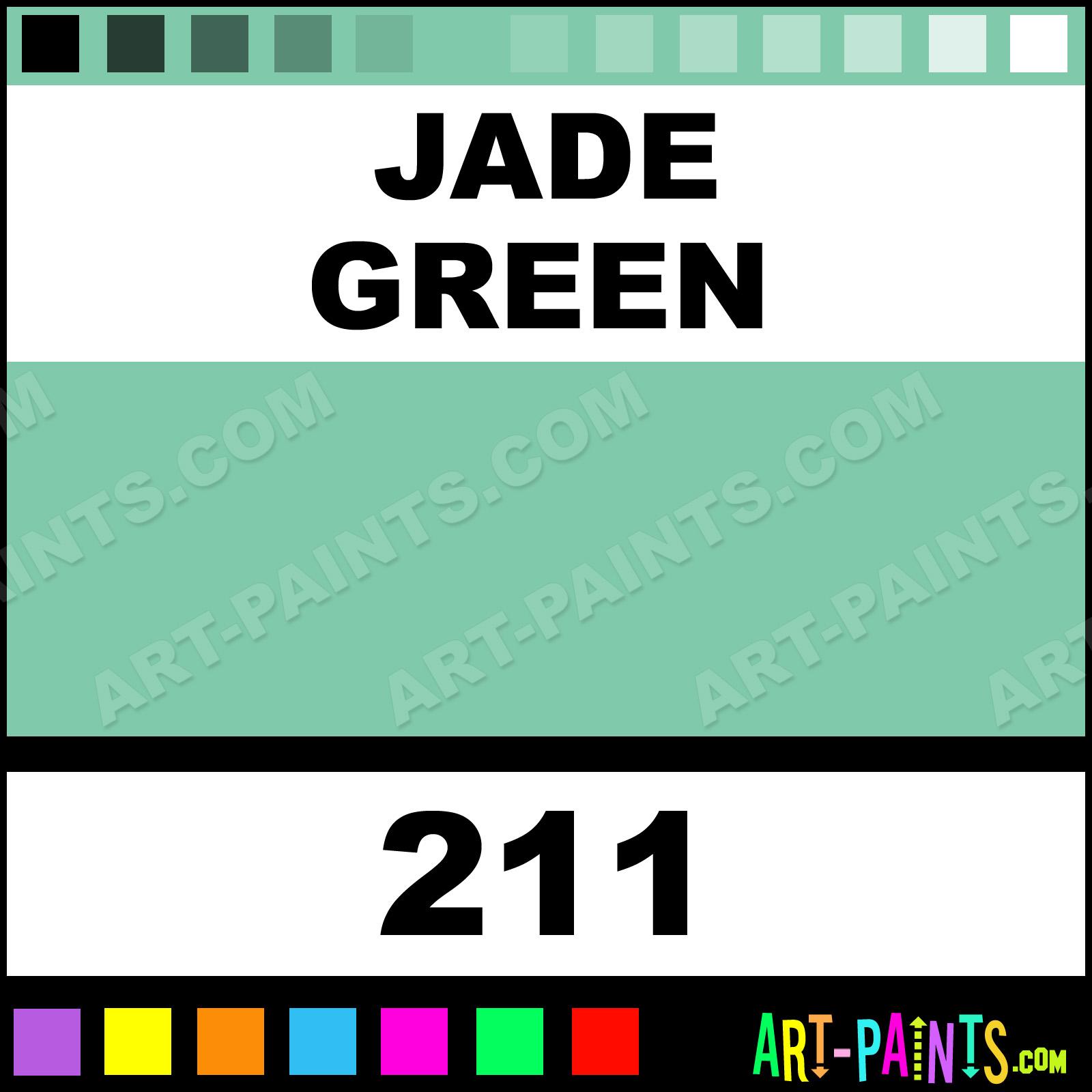 Jade Green Colours Acrylic Paints - 211 - Jade Green Paint, Jade ...