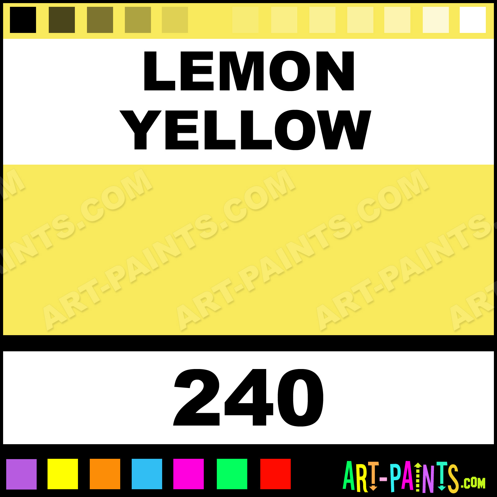 Caran D Ache Colours Paints Lemon Yellow Acrylic