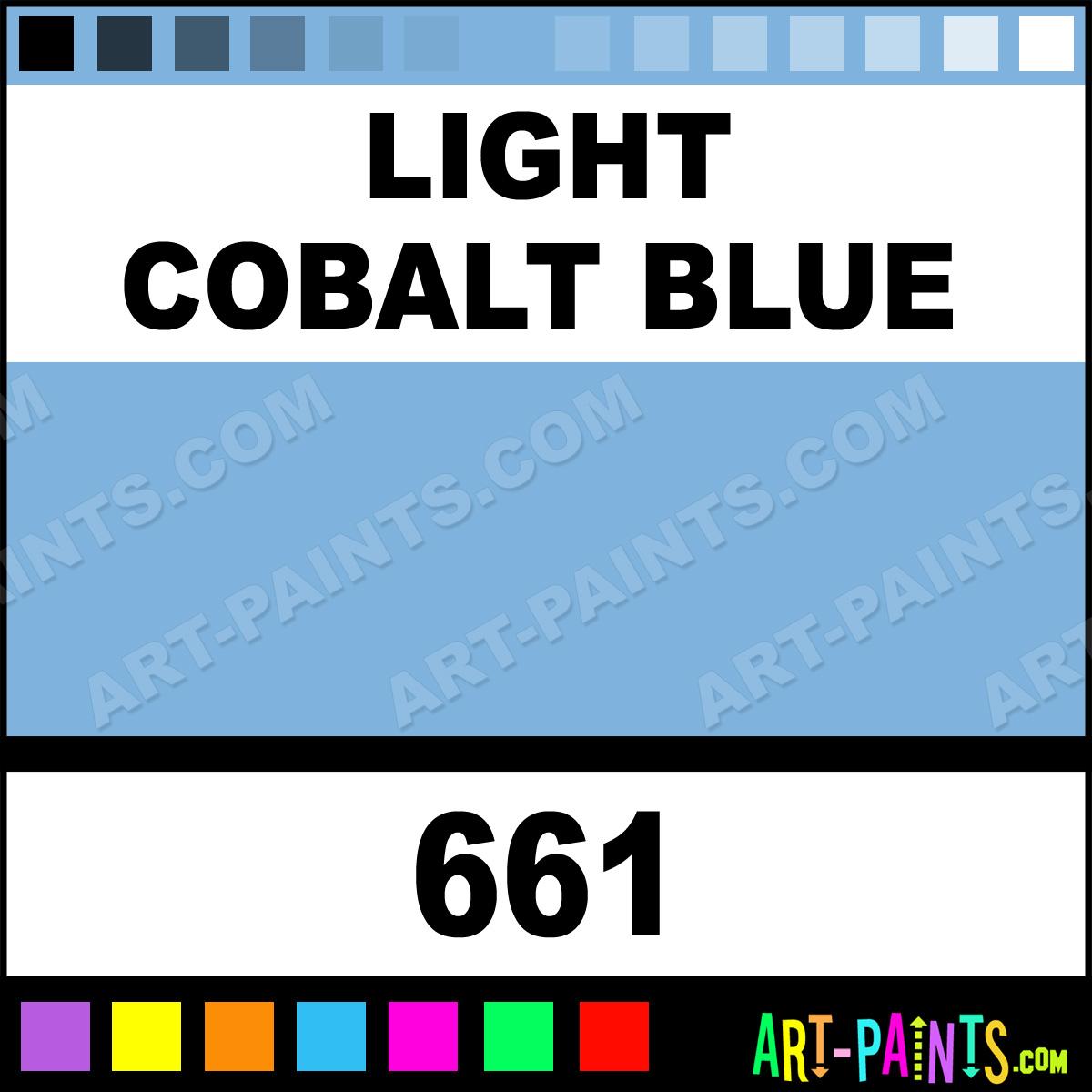 Cobalt Blue Paint Color: Light Cobalt Blue Colours Acrylic Paints