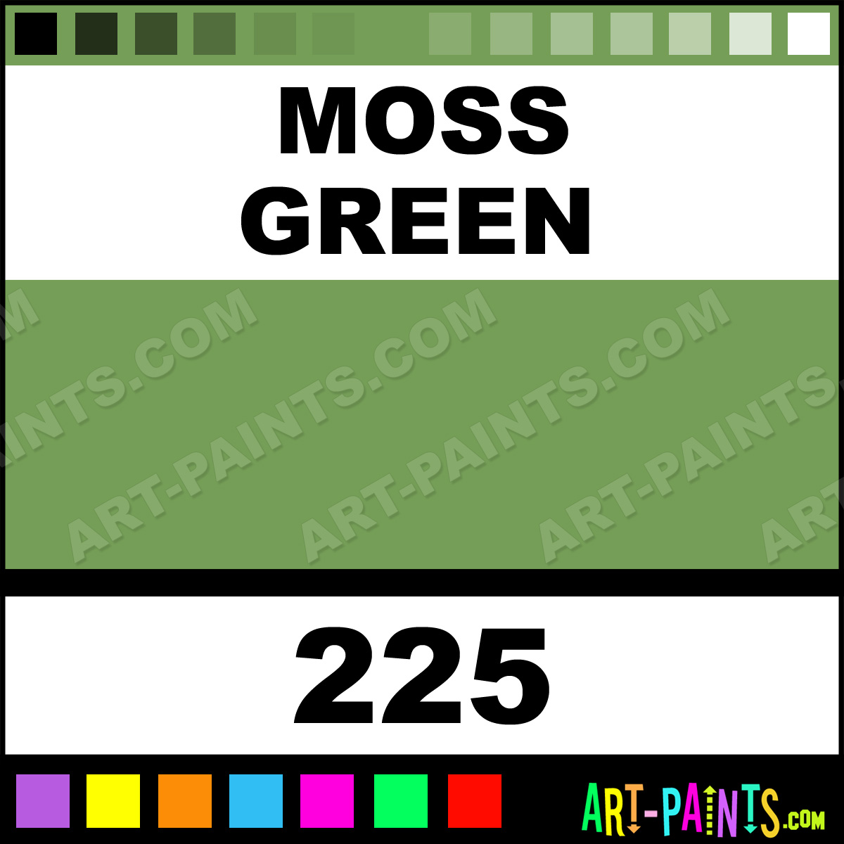 Moss Green Paint Colors: Moss Green Colours Acrylic Paints