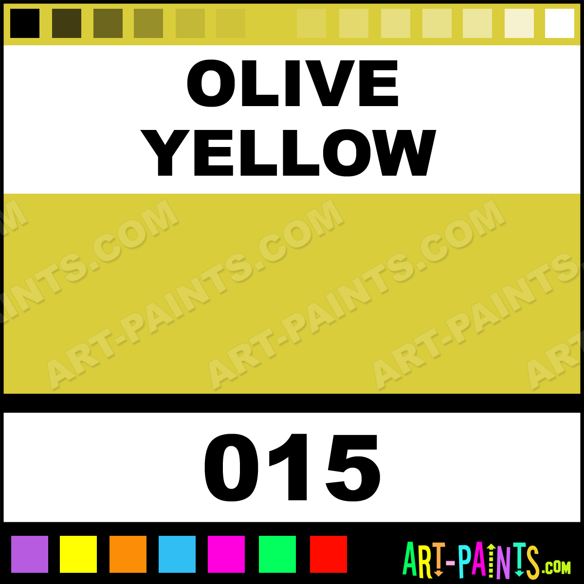 Olive Yellow Colours Acrylic Paints 015 Olive Yellow