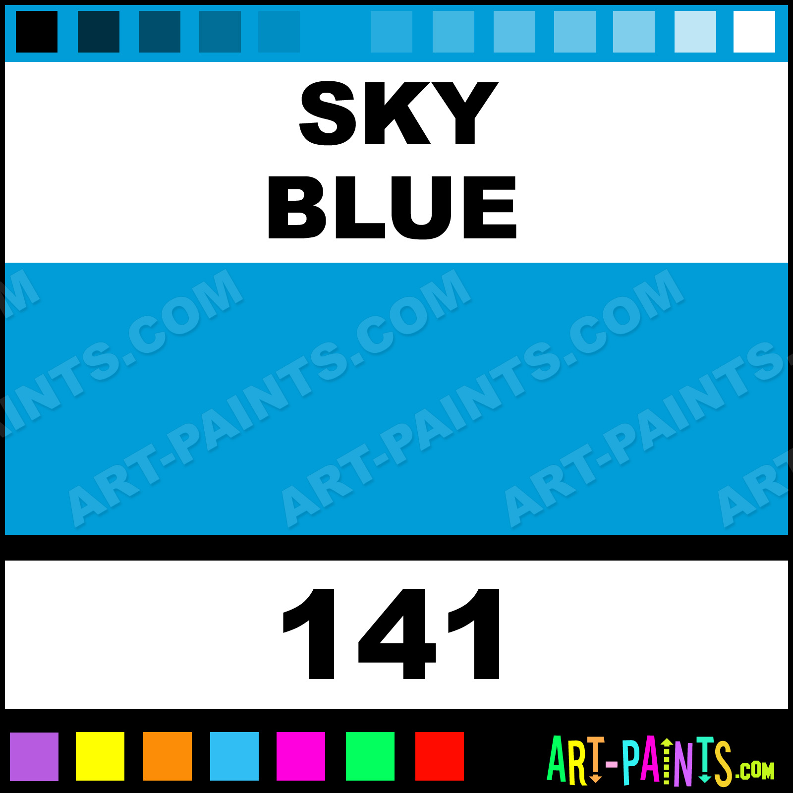 Caran D Ache Colours Paints Sky Blue Acrylic