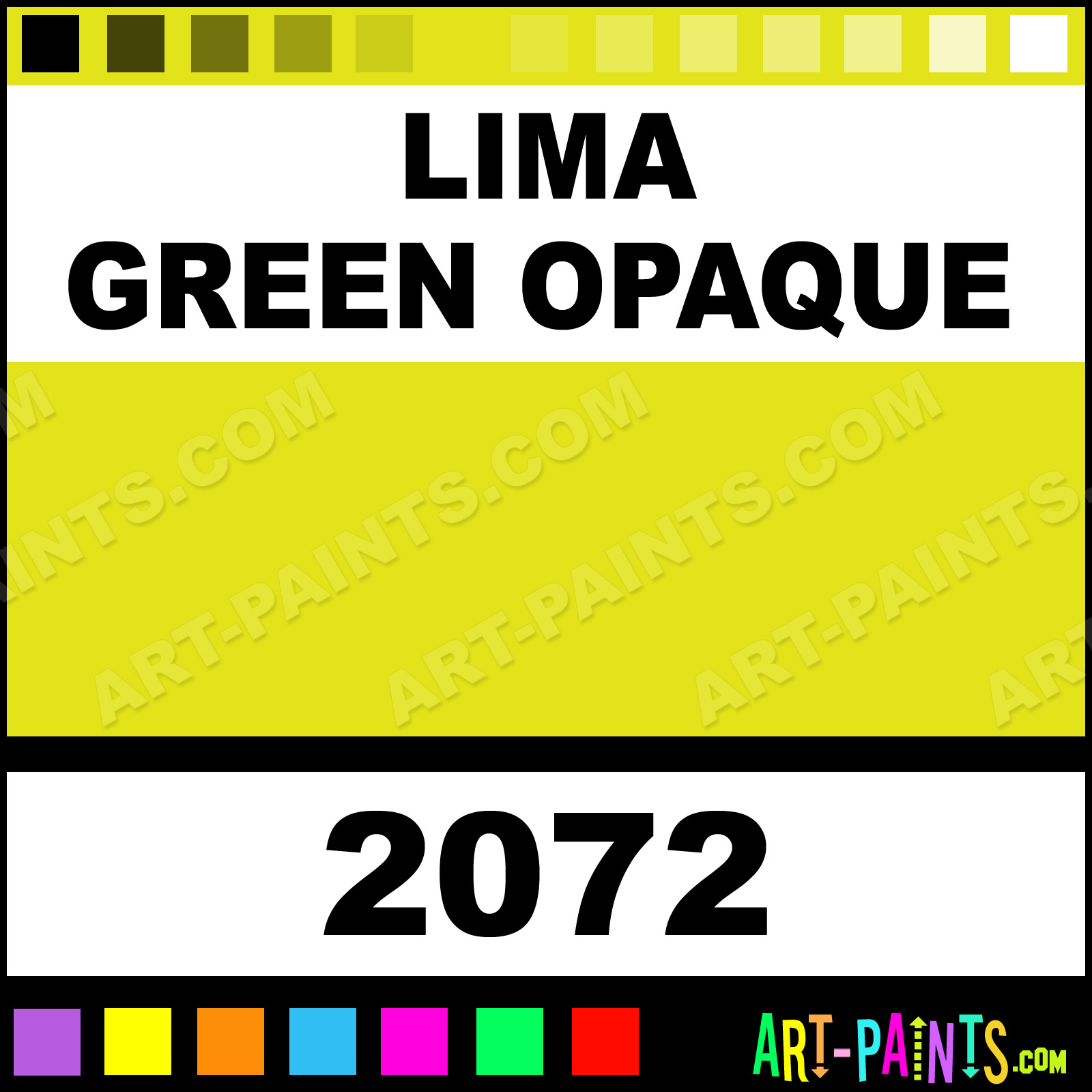 Lima Green Opaque Delta Acrylic Paints 2072 Lima Green Opaque