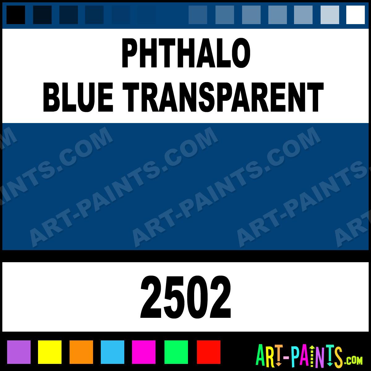 Phthalo Blue Transparent Delta Acrylic Paints 2502
