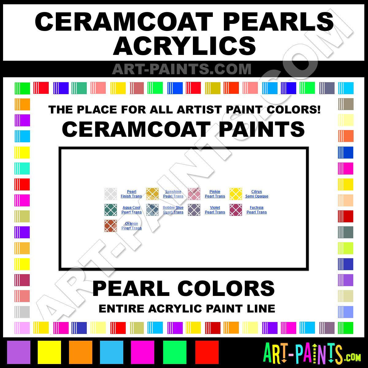 Ceramcoat pearls acrylic paint colors ceramcoat pearls for Basic acrylic paint colors to have