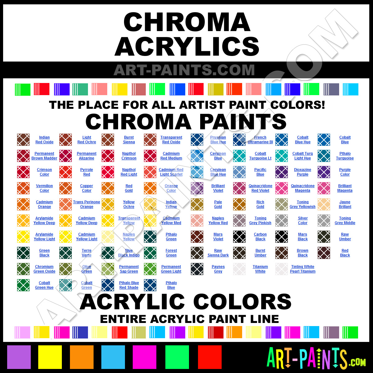 28 brands of paint color for Chroma mural paint