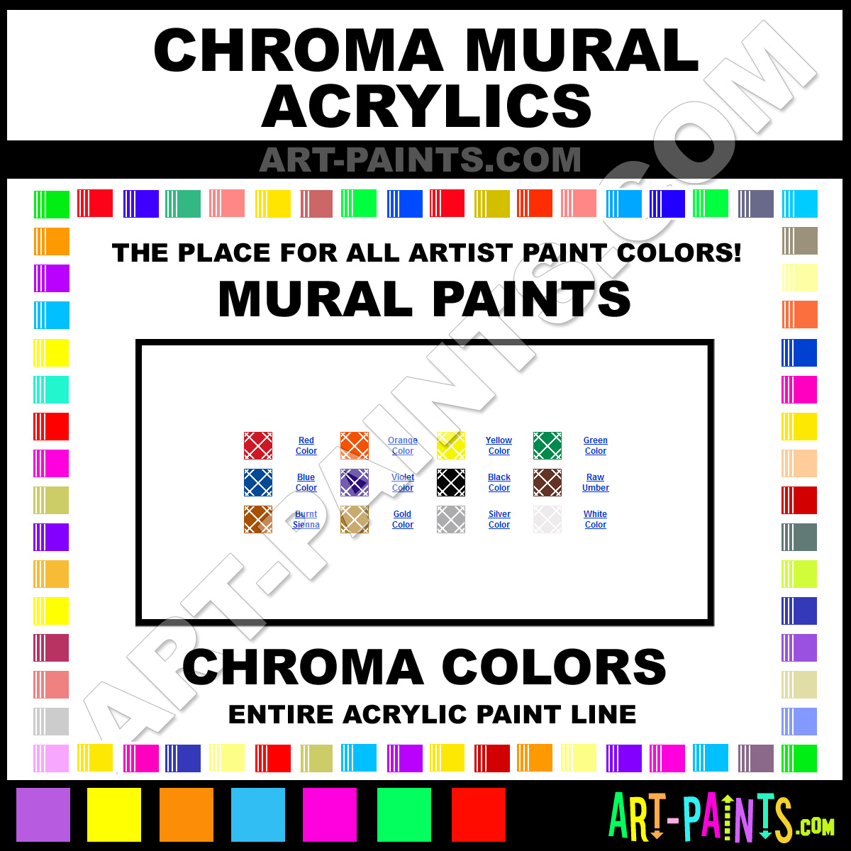 Chroma mural acrylic paint colors chroma mural paint for Chroma mural paint
