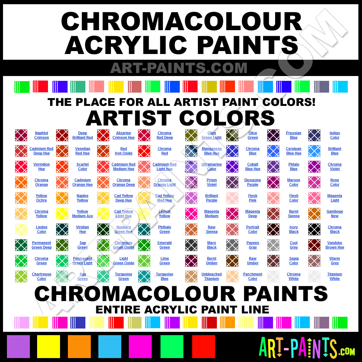 Artist Paint Colors Chromacolour Artist Paints