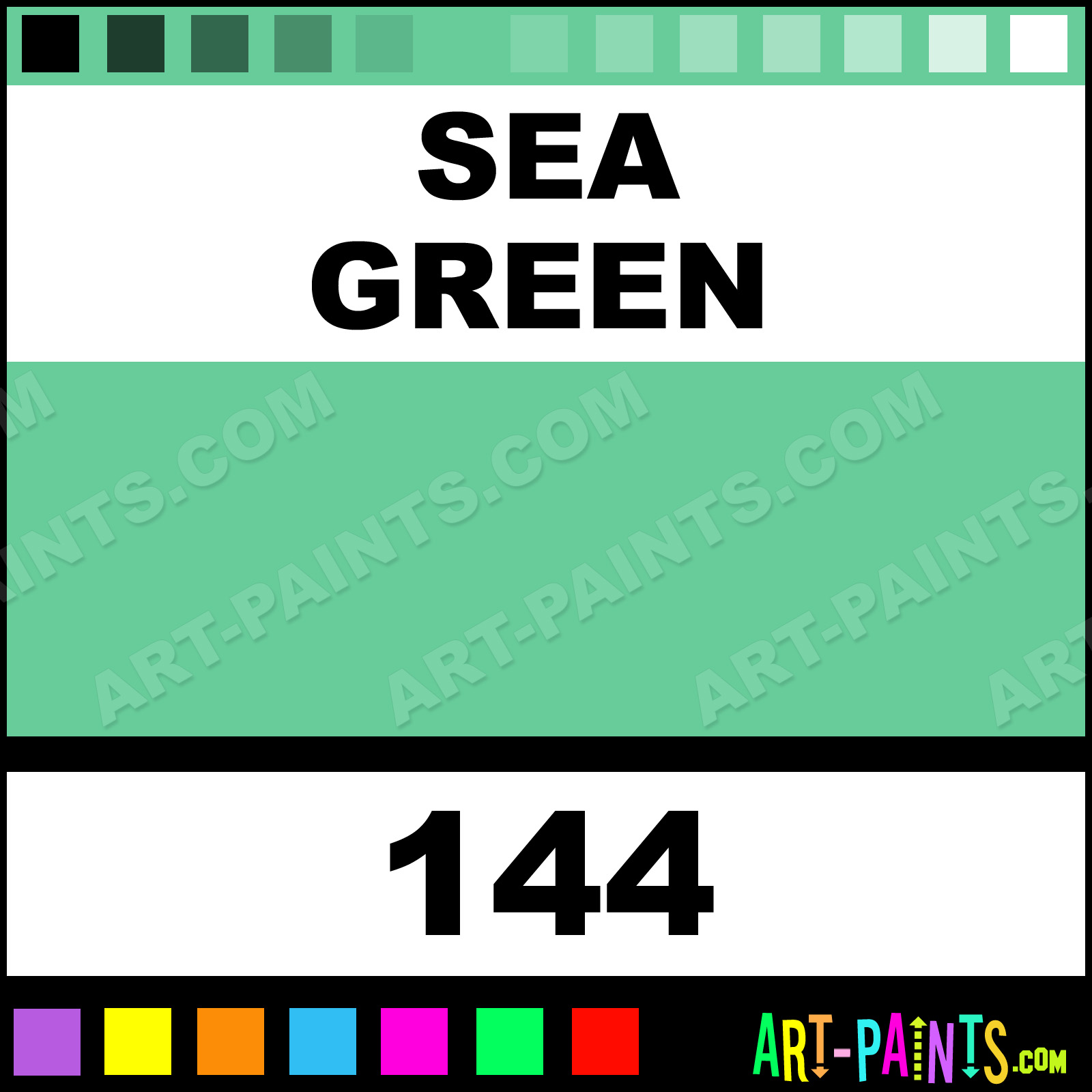 Sea Green Artist Acrylic Paints 144 Sea Green Paint Sea Green Color Chromacolour Artist