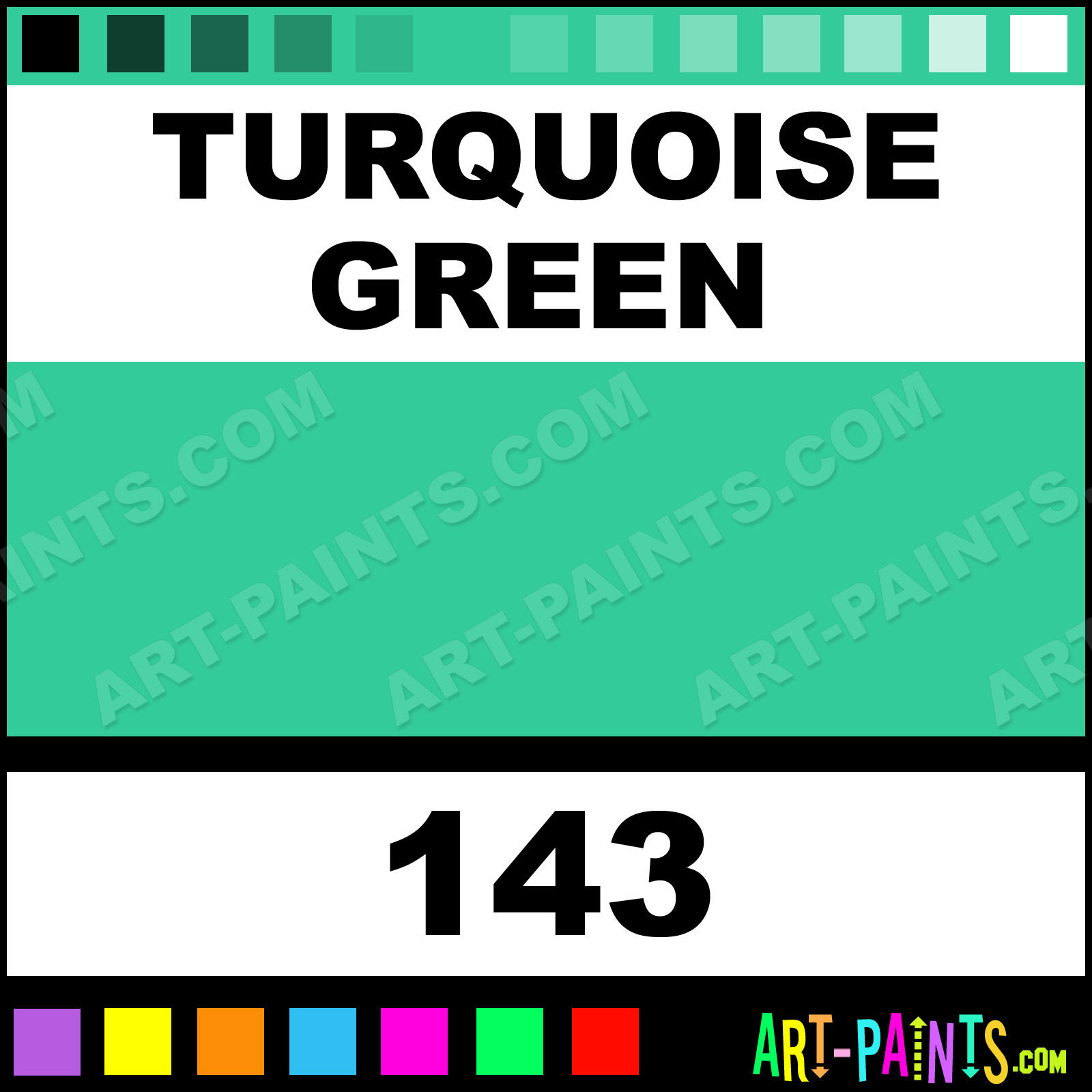 Turquoise Green Paint