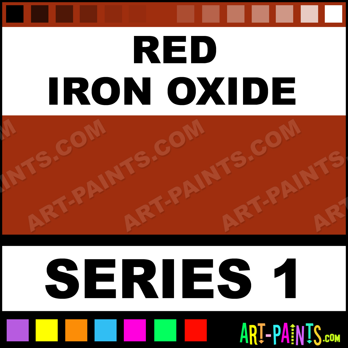 Red Iron Oxide Fluid Acrylic Paints
