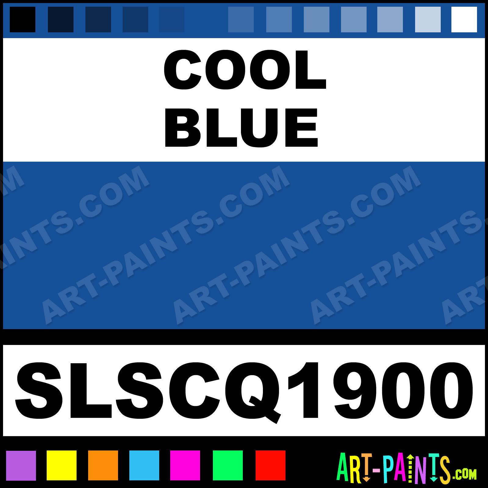 Cool Blue Artist Acrylic Paints
