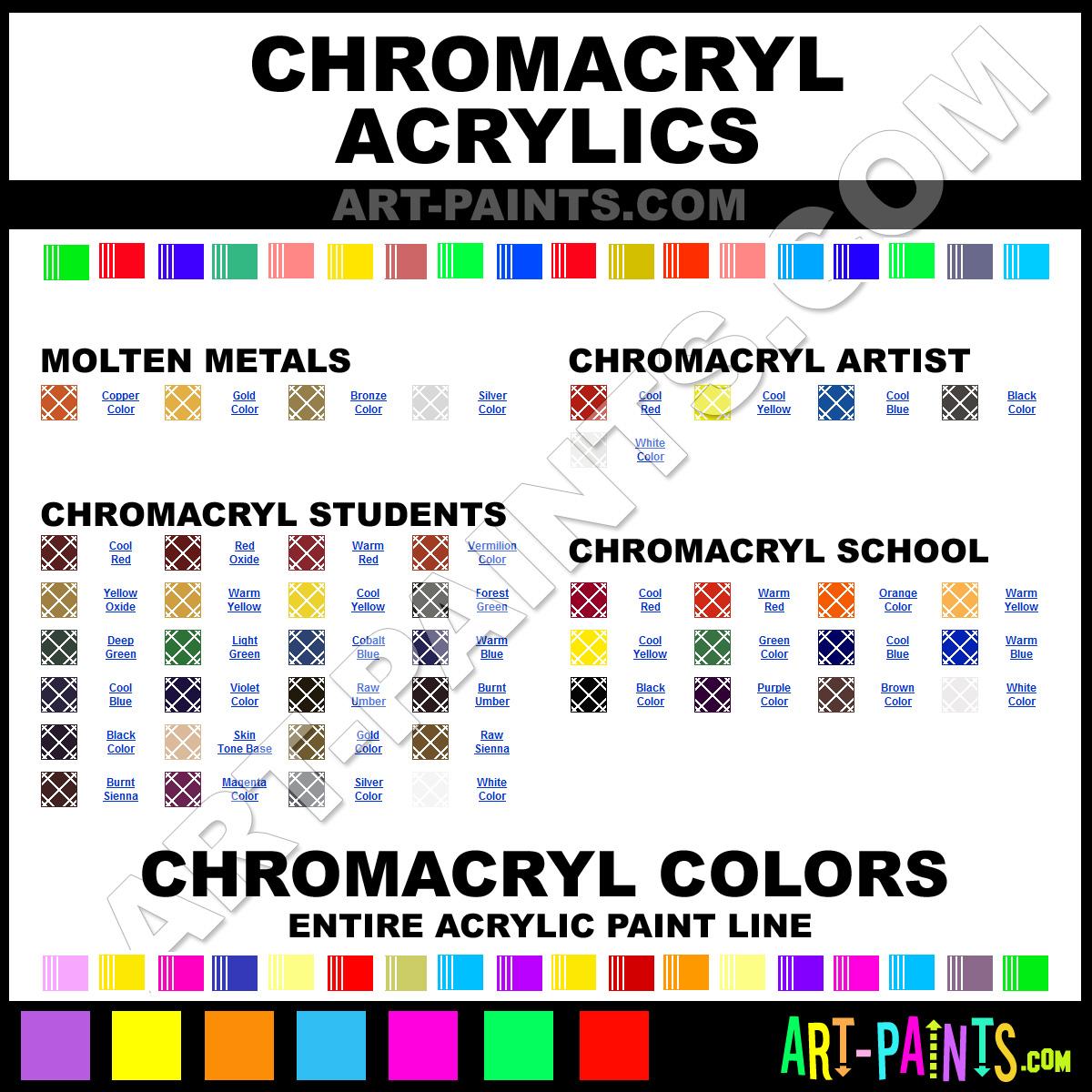 Paint Colors And Brands: Chromacryl Acrylic Paint Brands