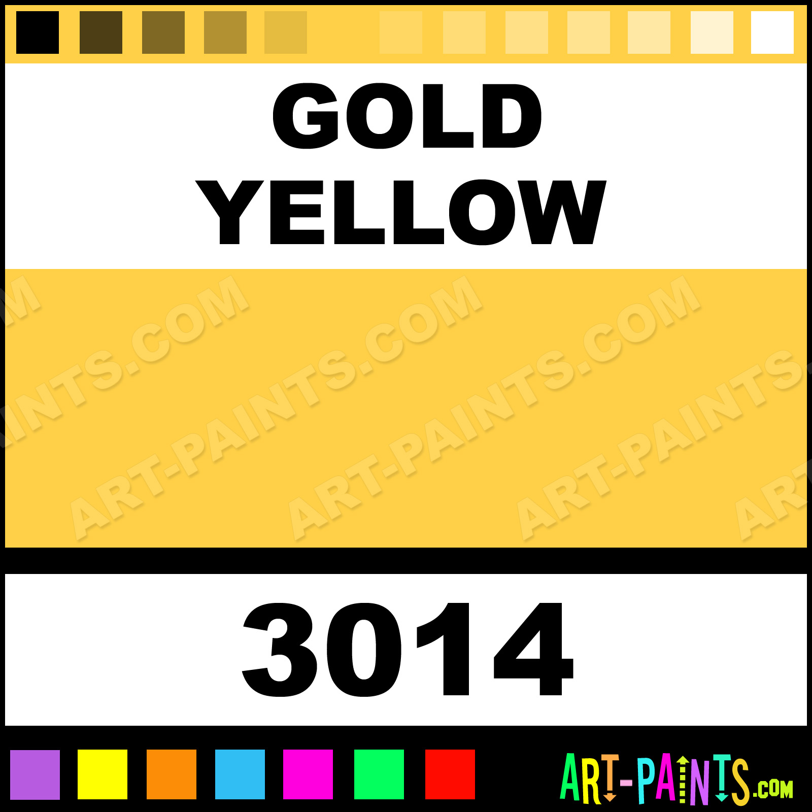gold yellow glossy acrylic paints - 3014 - gold yellow paint, gold