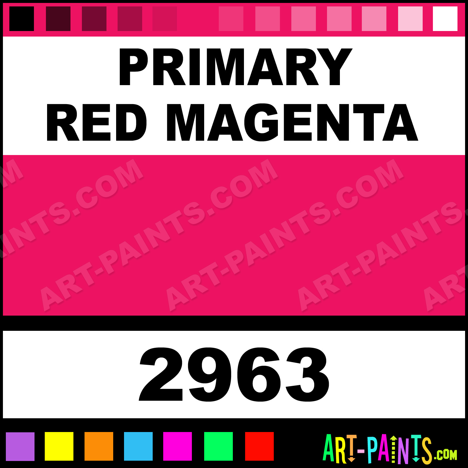 Color And Co Paints Primary Red Magenta