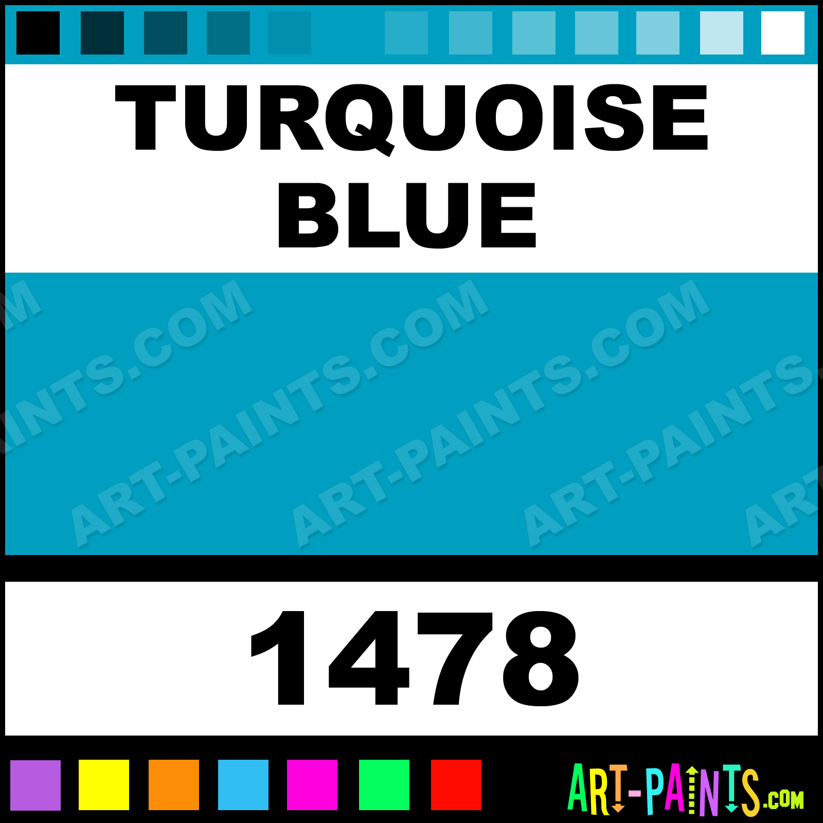 Color And Co Paints Turquoise Blue Glossy Acrylic