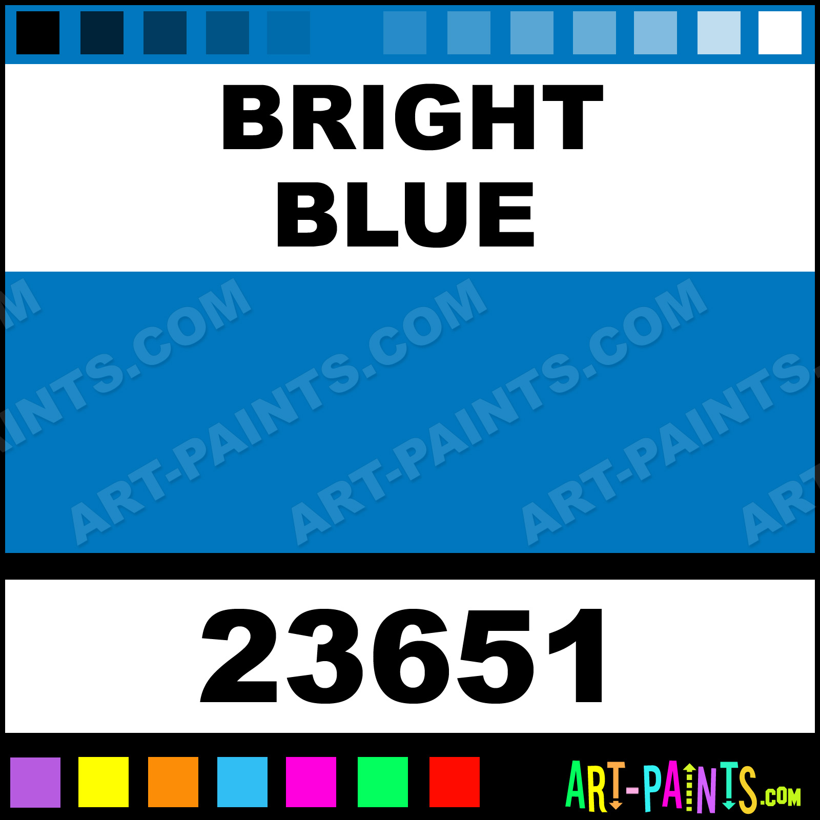 bright blue artist acrylic paints - 23651 - bright blue paint