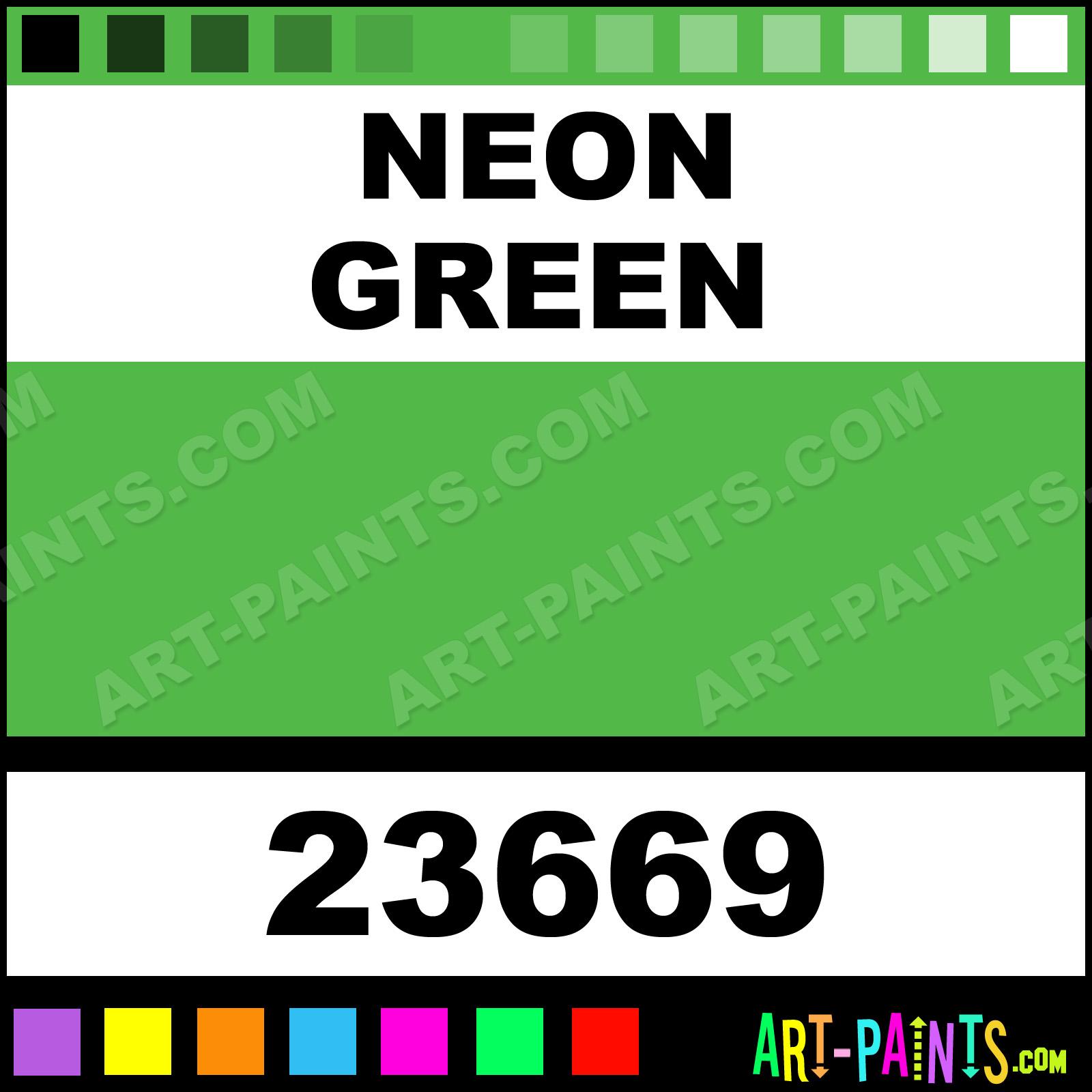 Craft Smart Paints Neon Green Artist Acrylic