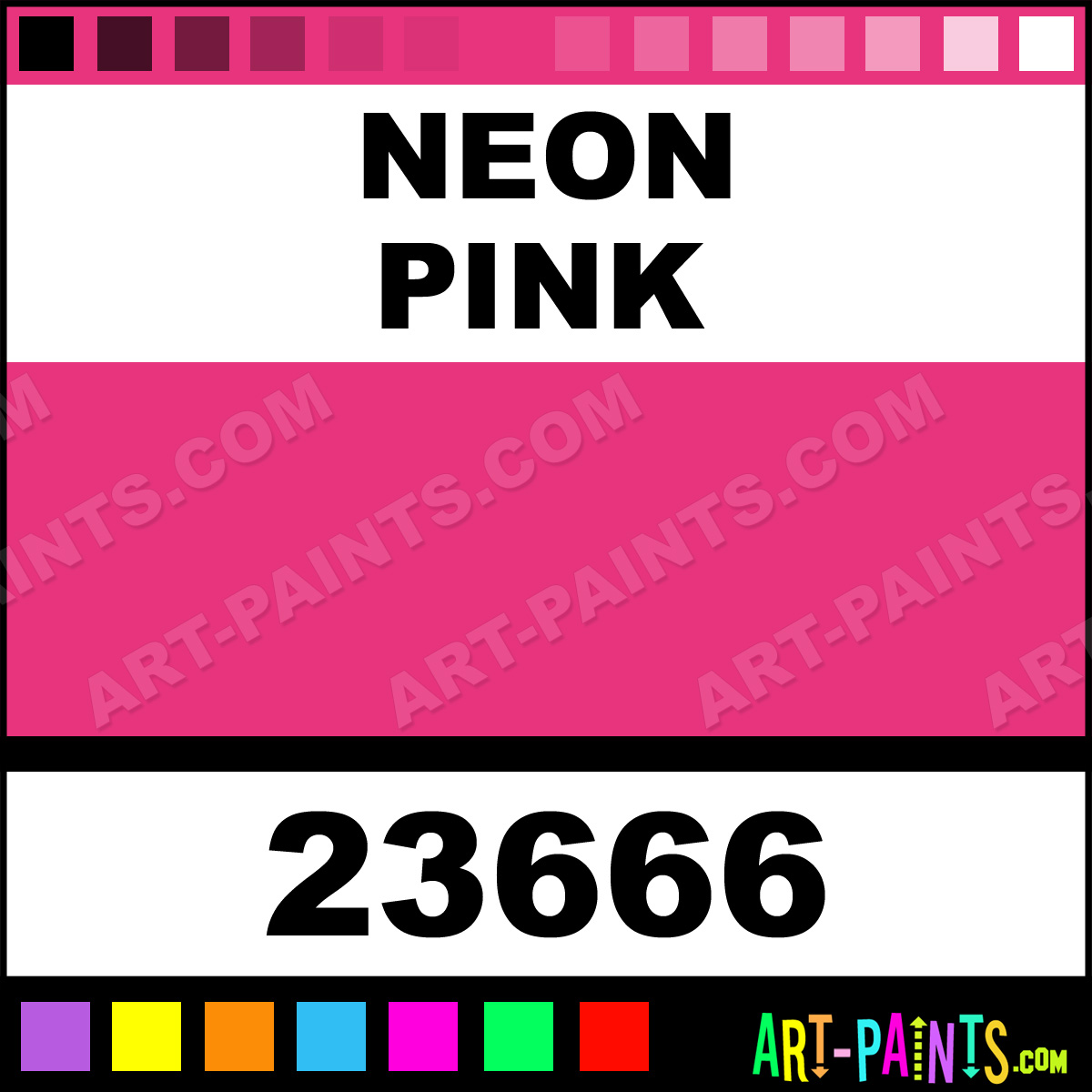 how to make neon pink paint
