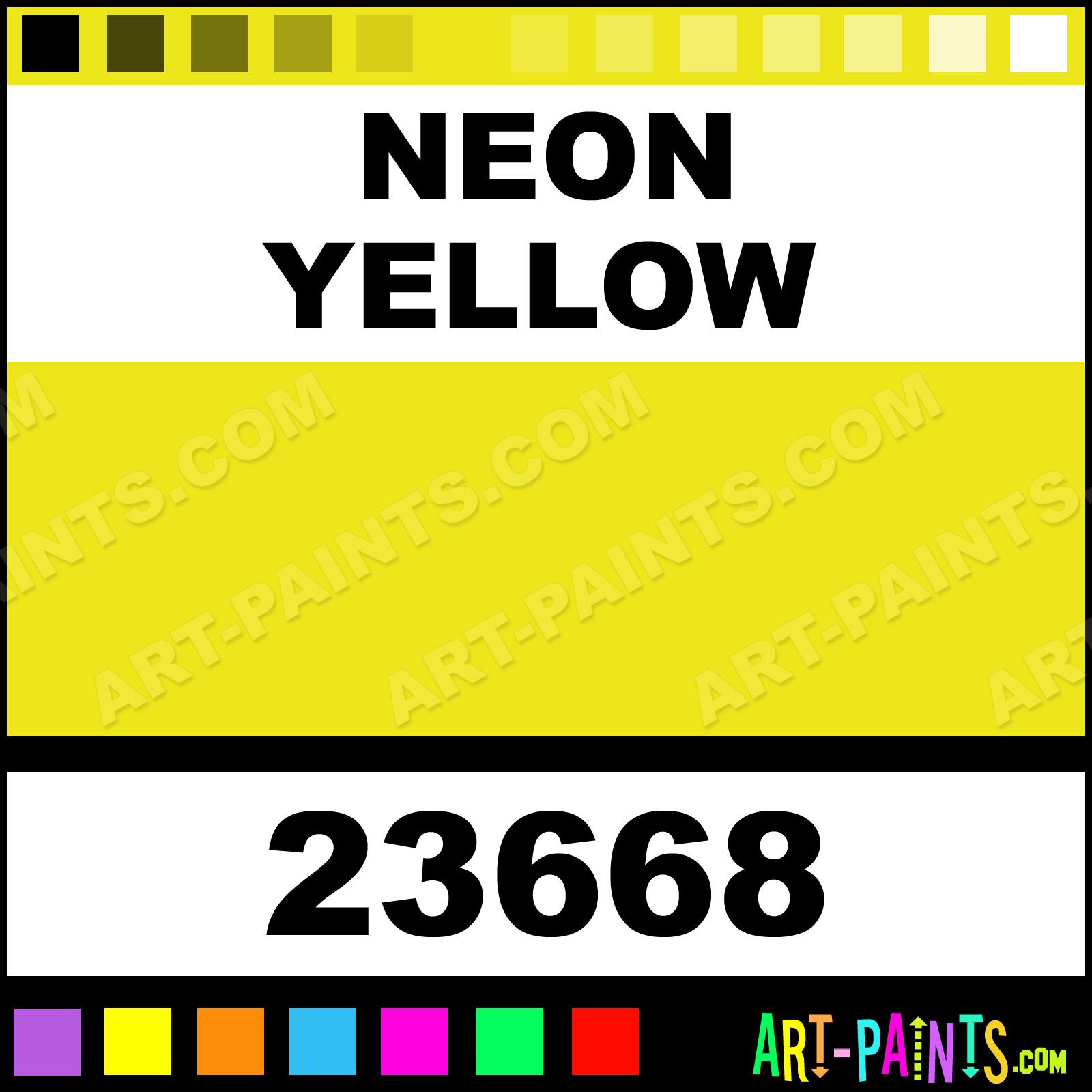 Neon Yellow Artist Acrylic Paints 23668 Neon Yellow