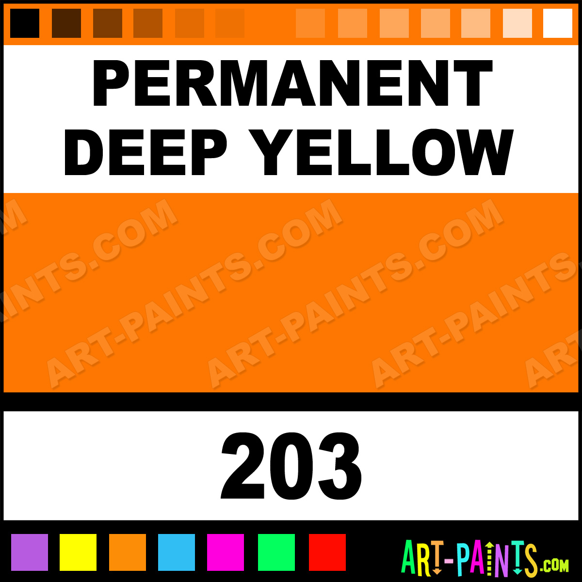 Permanent Deep Yellow Artist Acrylic Paints 203