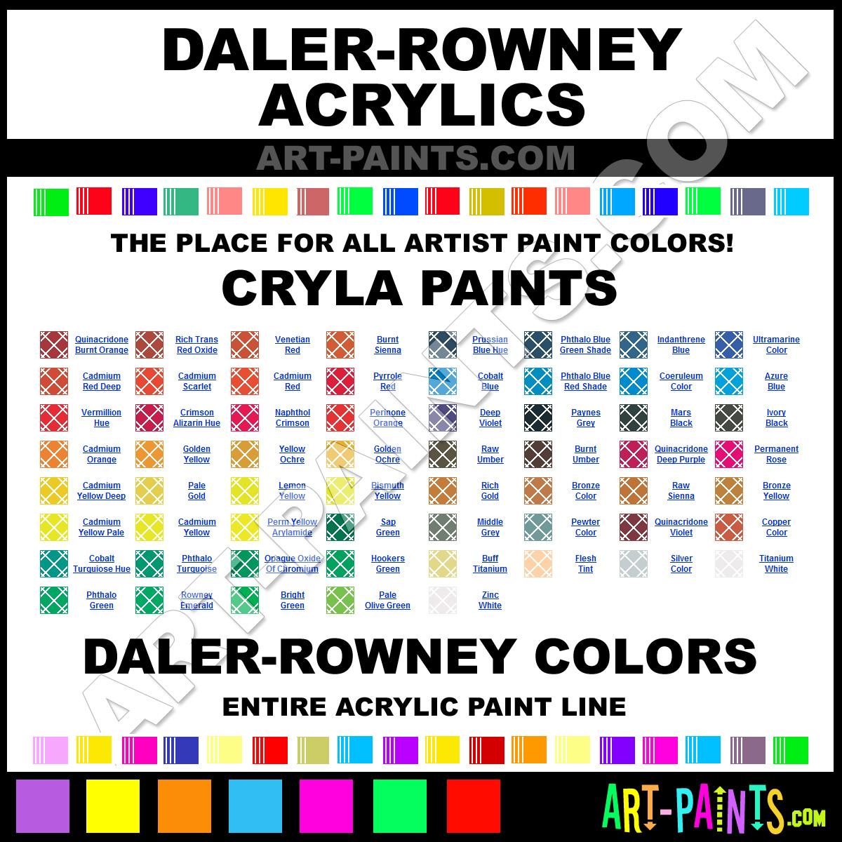 Cryla Daler Acrylic Paints