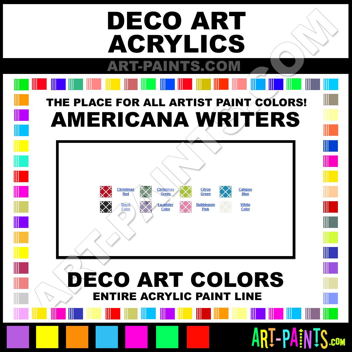 Decoart Americana Writers Acrylic Paint Colors Decoart